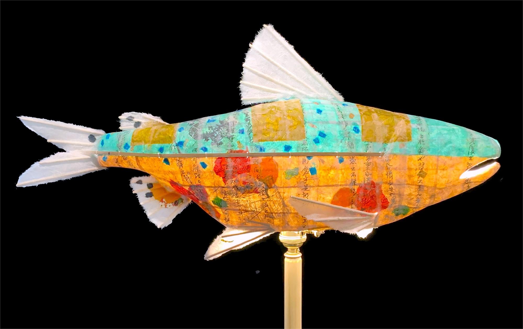 Turquoise River Salmon by Elaine Hanowell