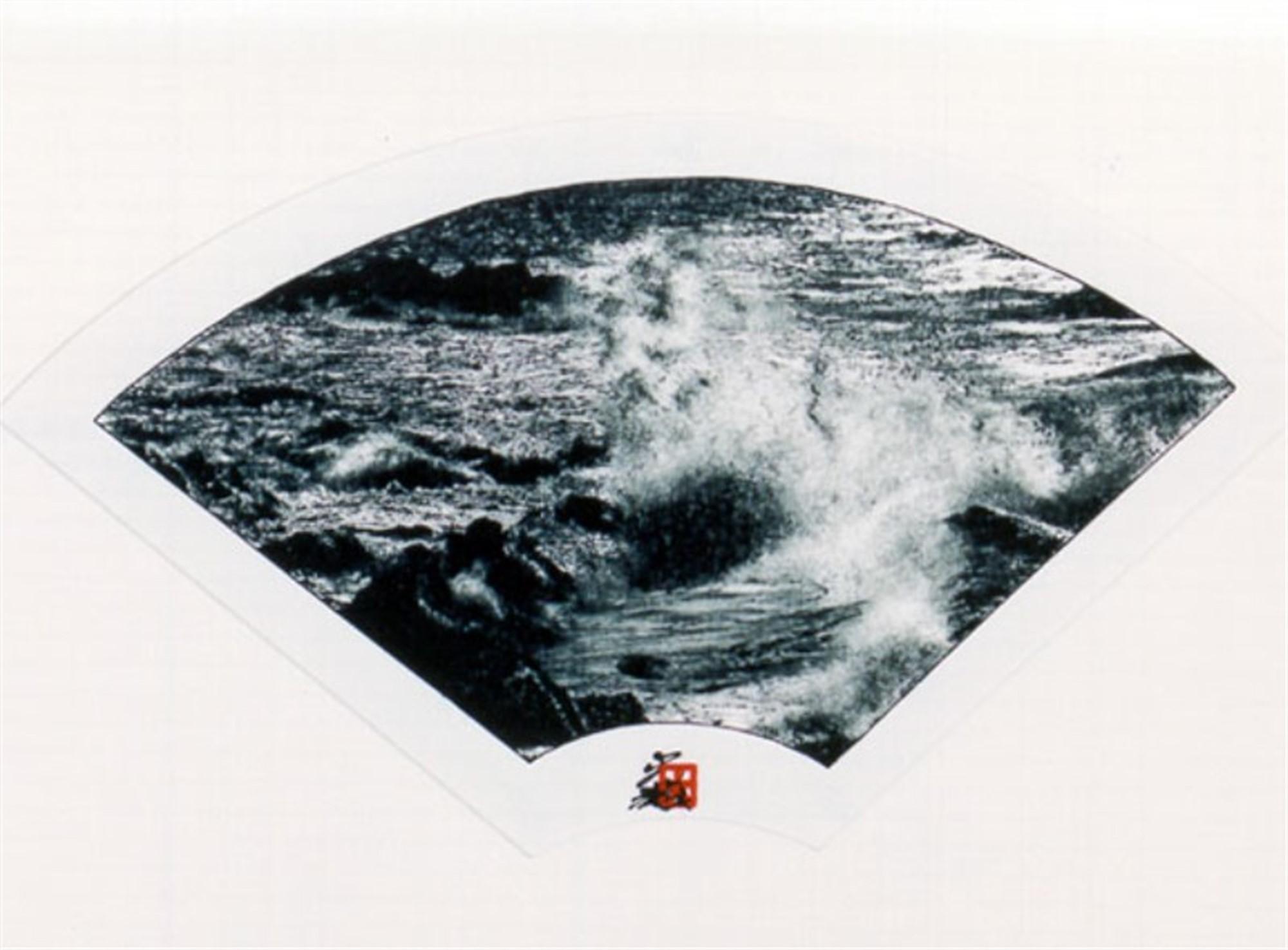 B/W Fan - Crashing Surf by Hisashi Otsuka