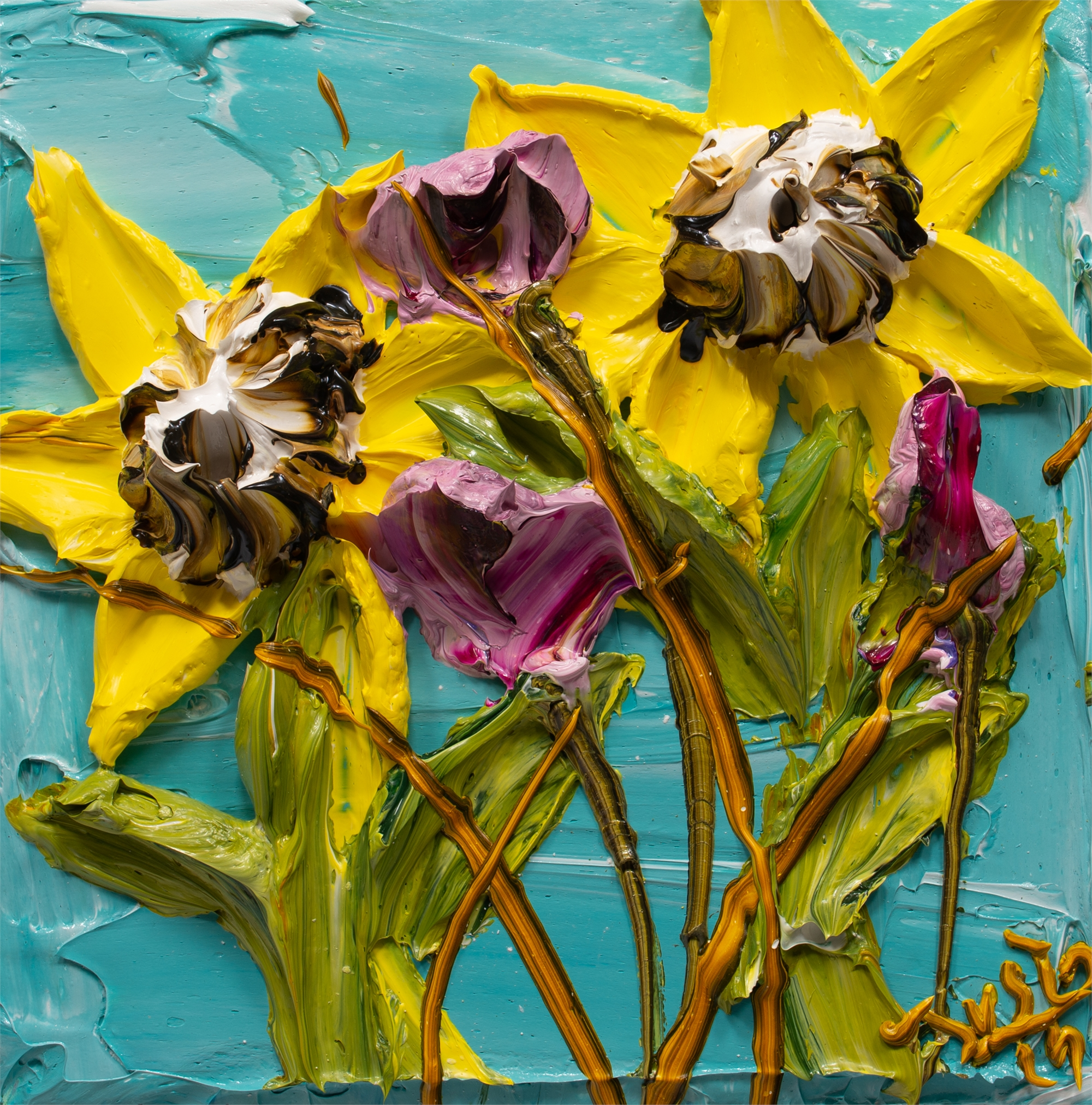 SUNFLOWERS-SF-12X12-2019-192 by JUSTIN GAFFREY