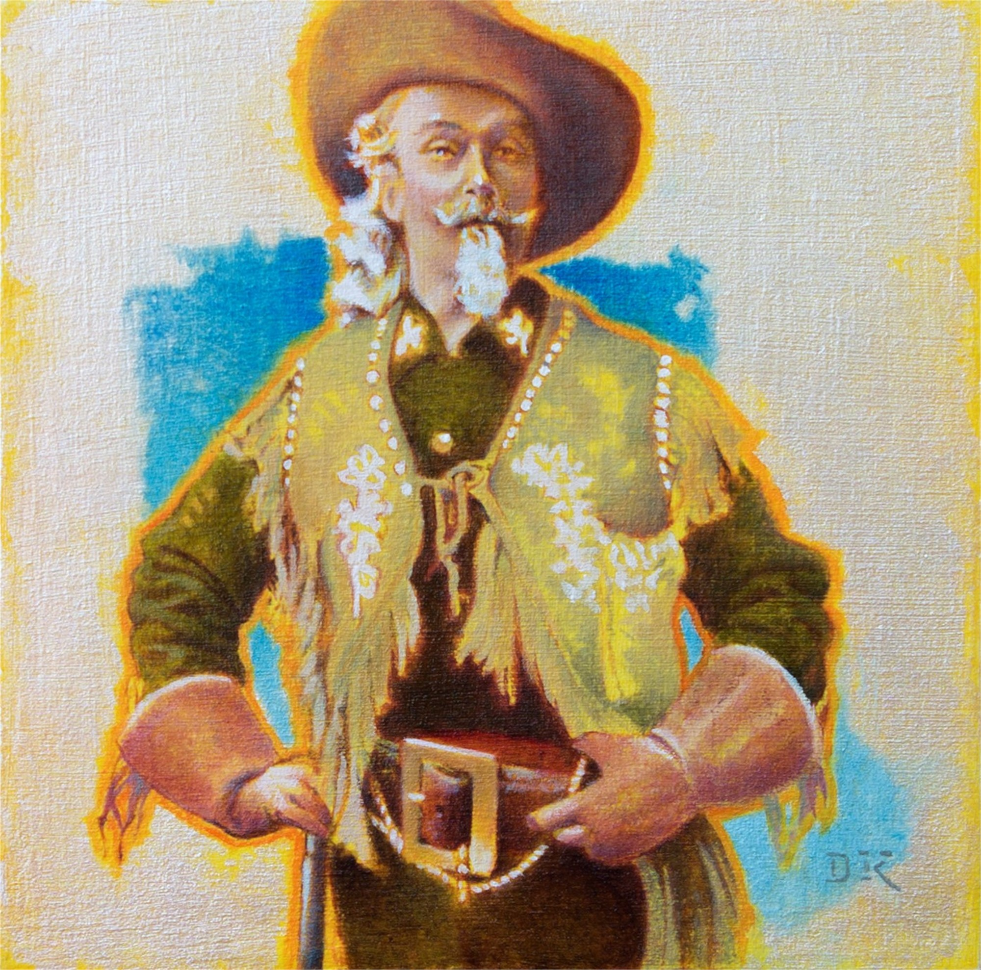 My Restless Spirit II (portrait of Buffalo Bill) by David Kammerzell