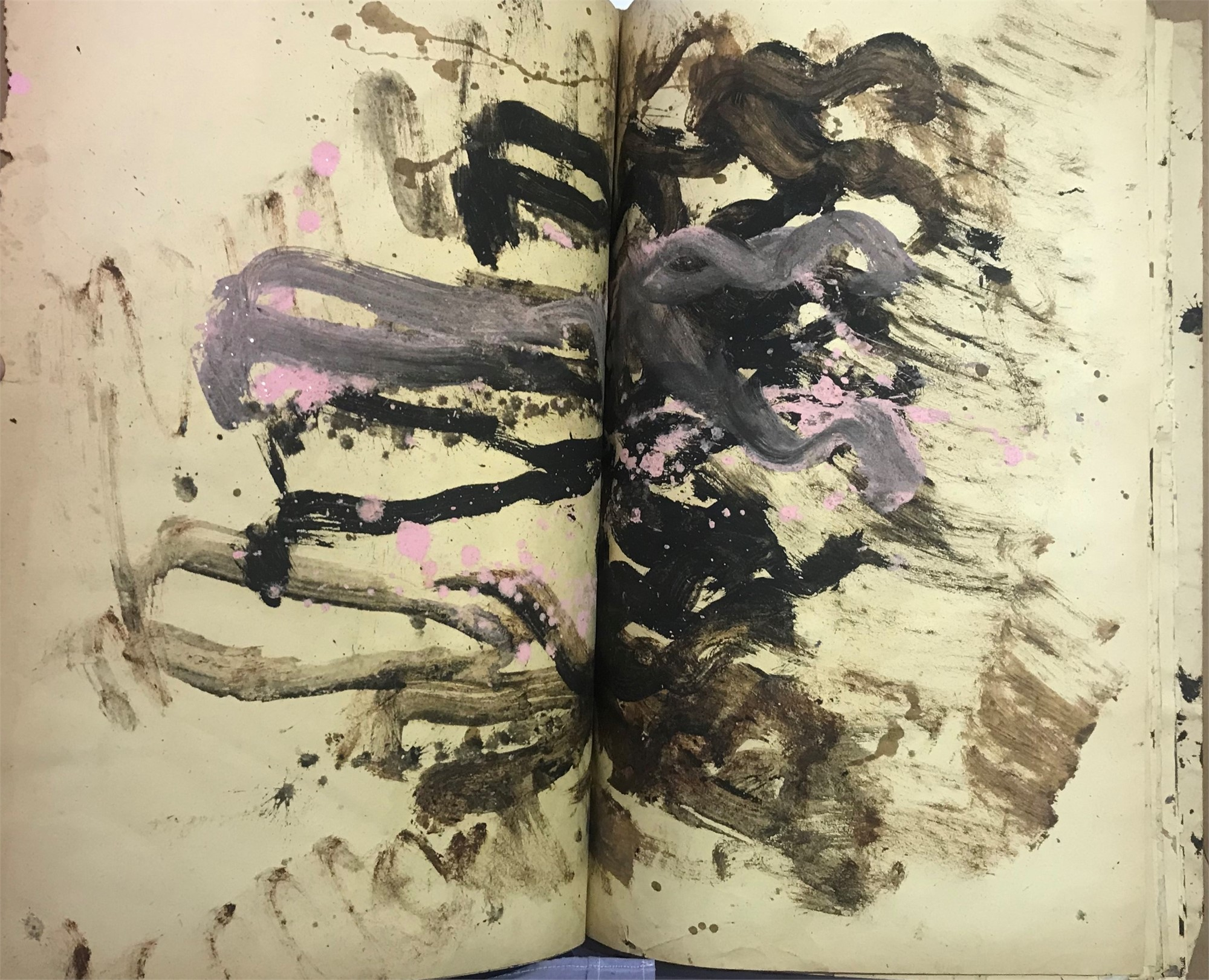 Cardboard Book of Art by Purvis Young