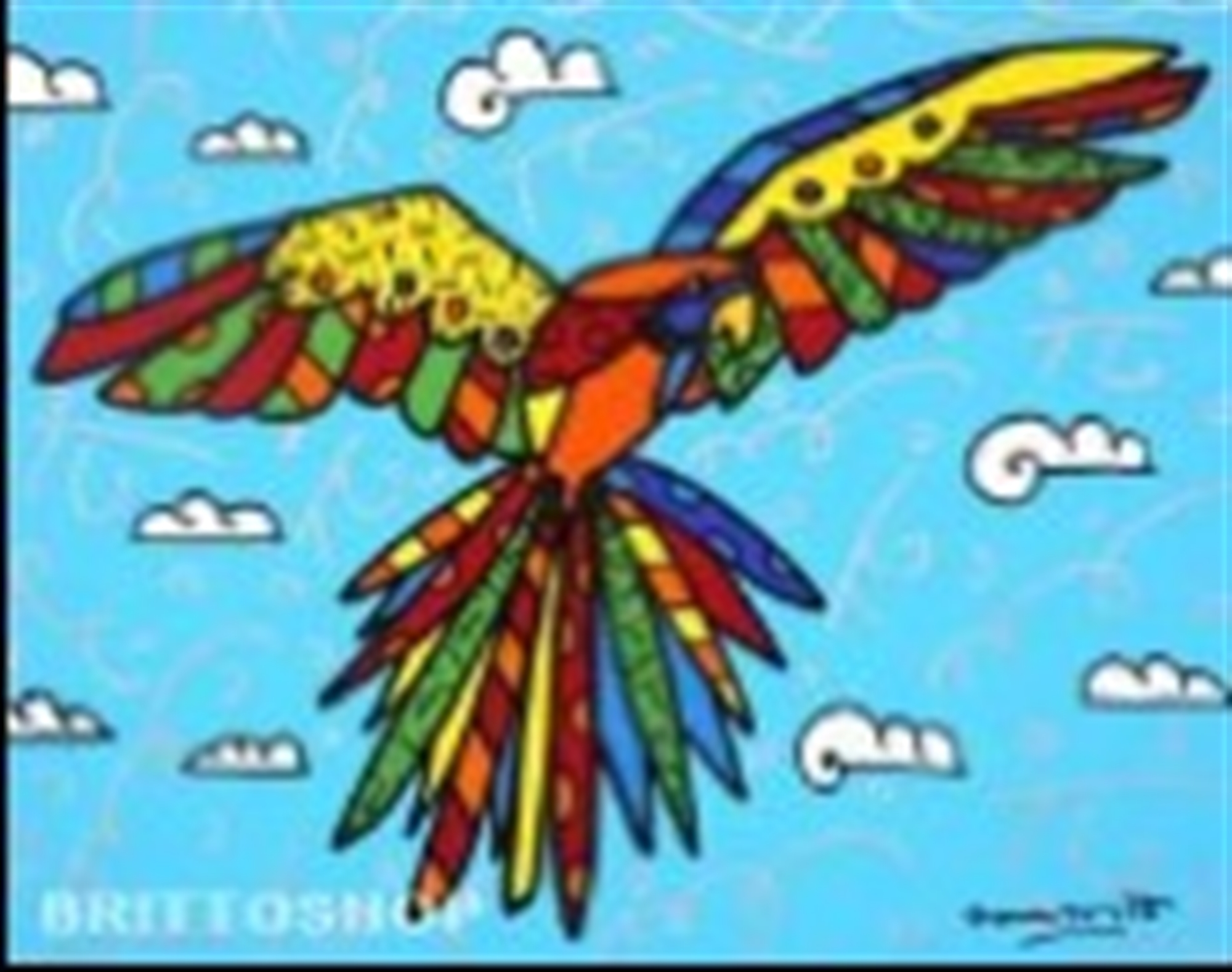 FLYING HIGH by Romero Britto