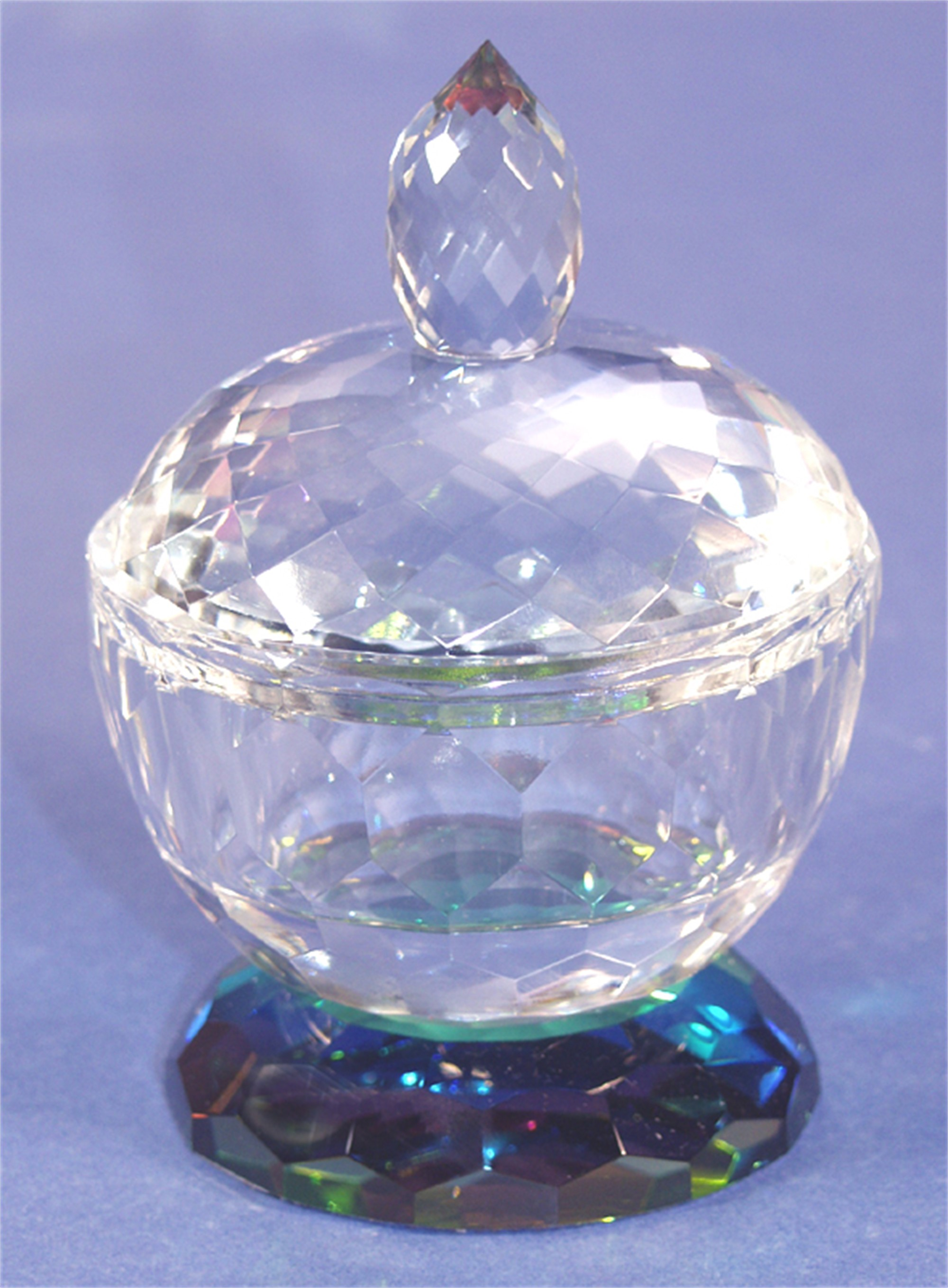 Crystal Candy Dish Small 4 x 4-PO by Harold Lustig
