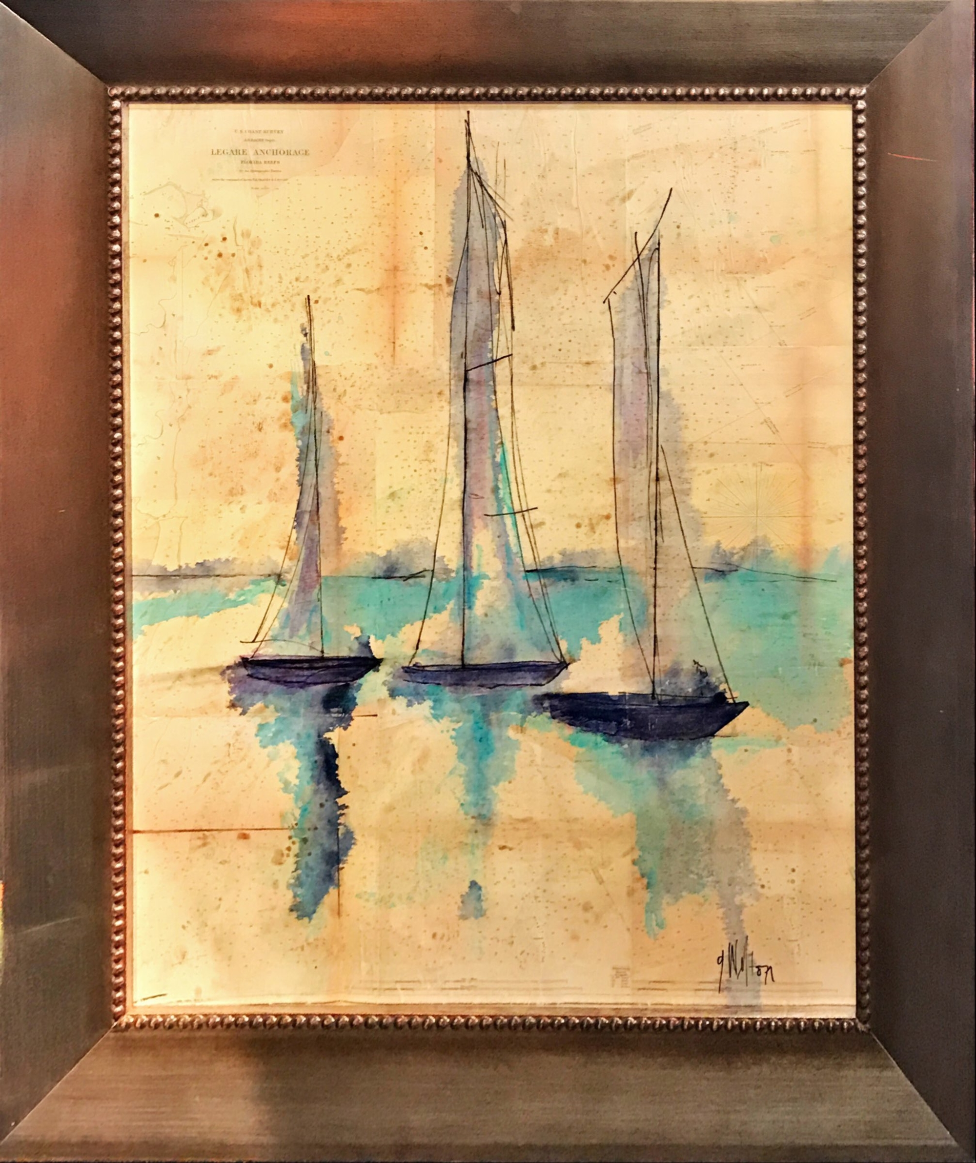Sailboats Florida Chart I by Gary Welton