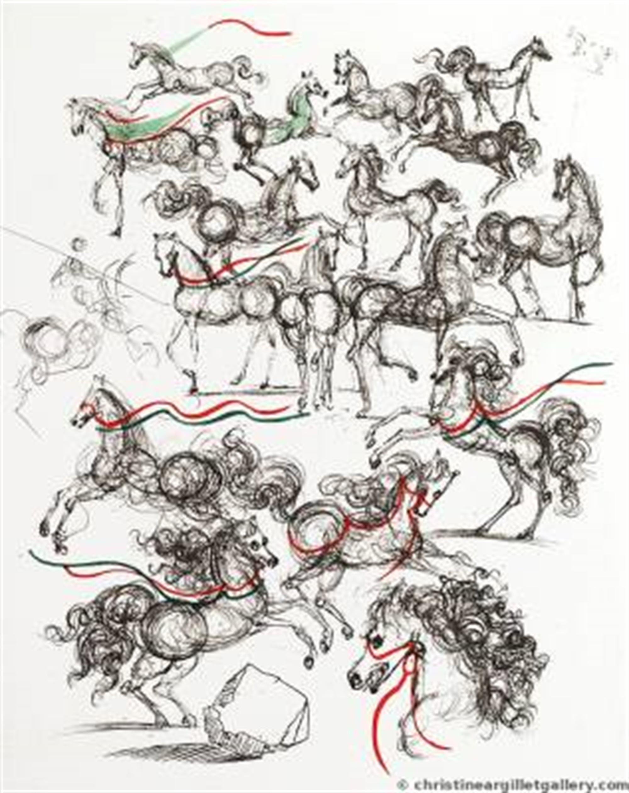 "Mao Zedong ""Petite Horses"" by Salvador Dali"