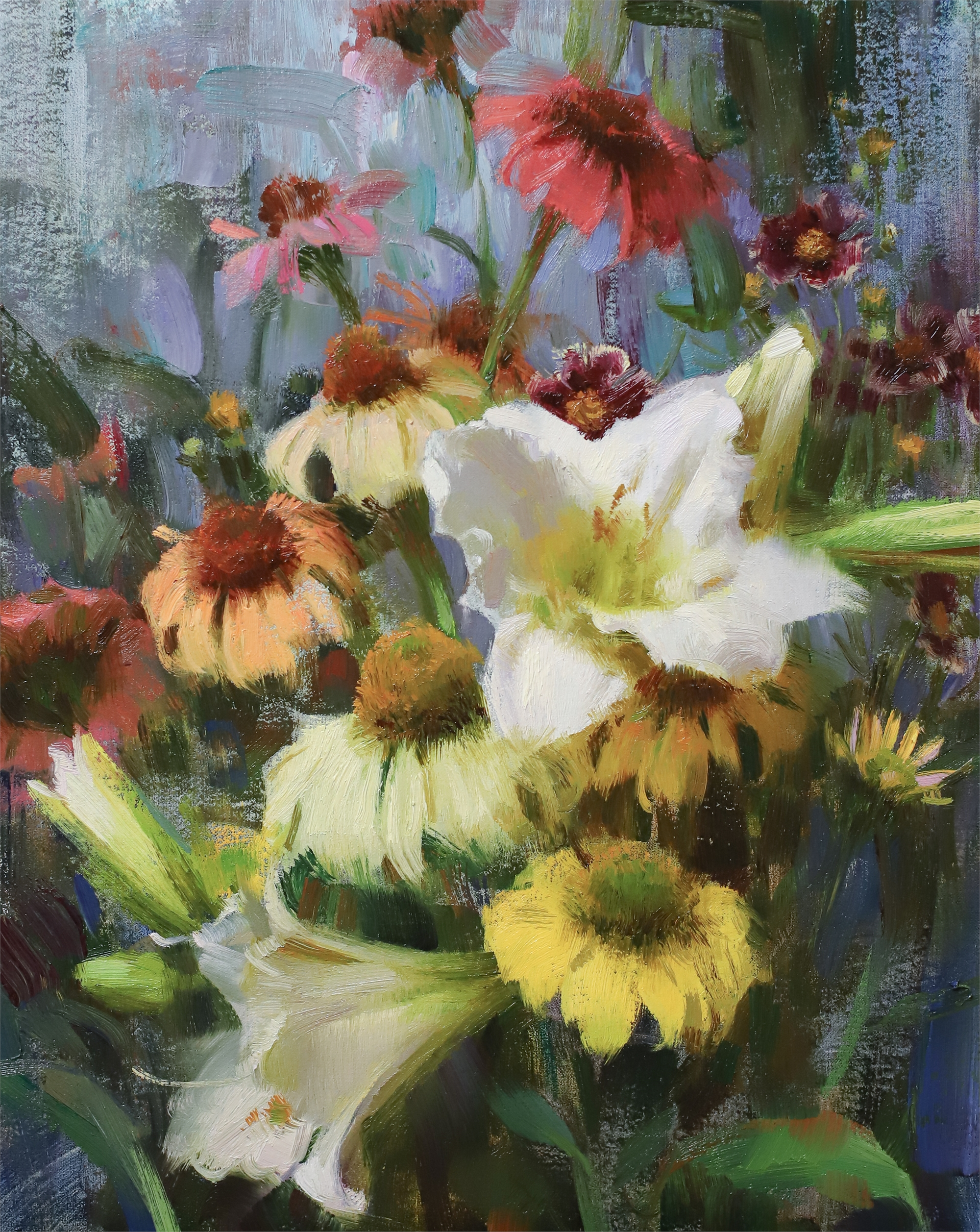 Daylilies, Echinacea, & Coreopsis by Daniel Keys