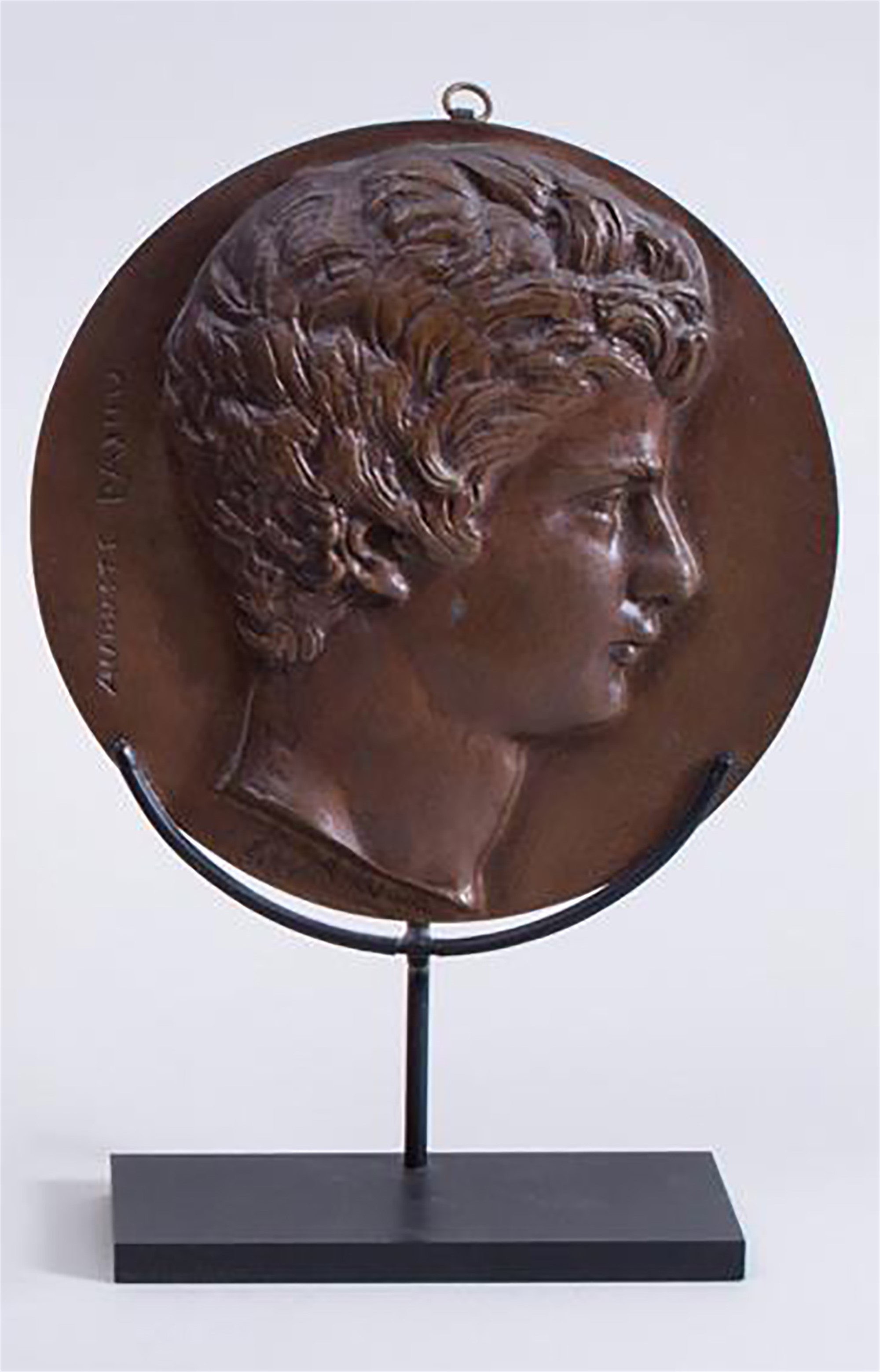 BRONZE RONDEL OF AUGUSTIN PAJOU by David D'Angers