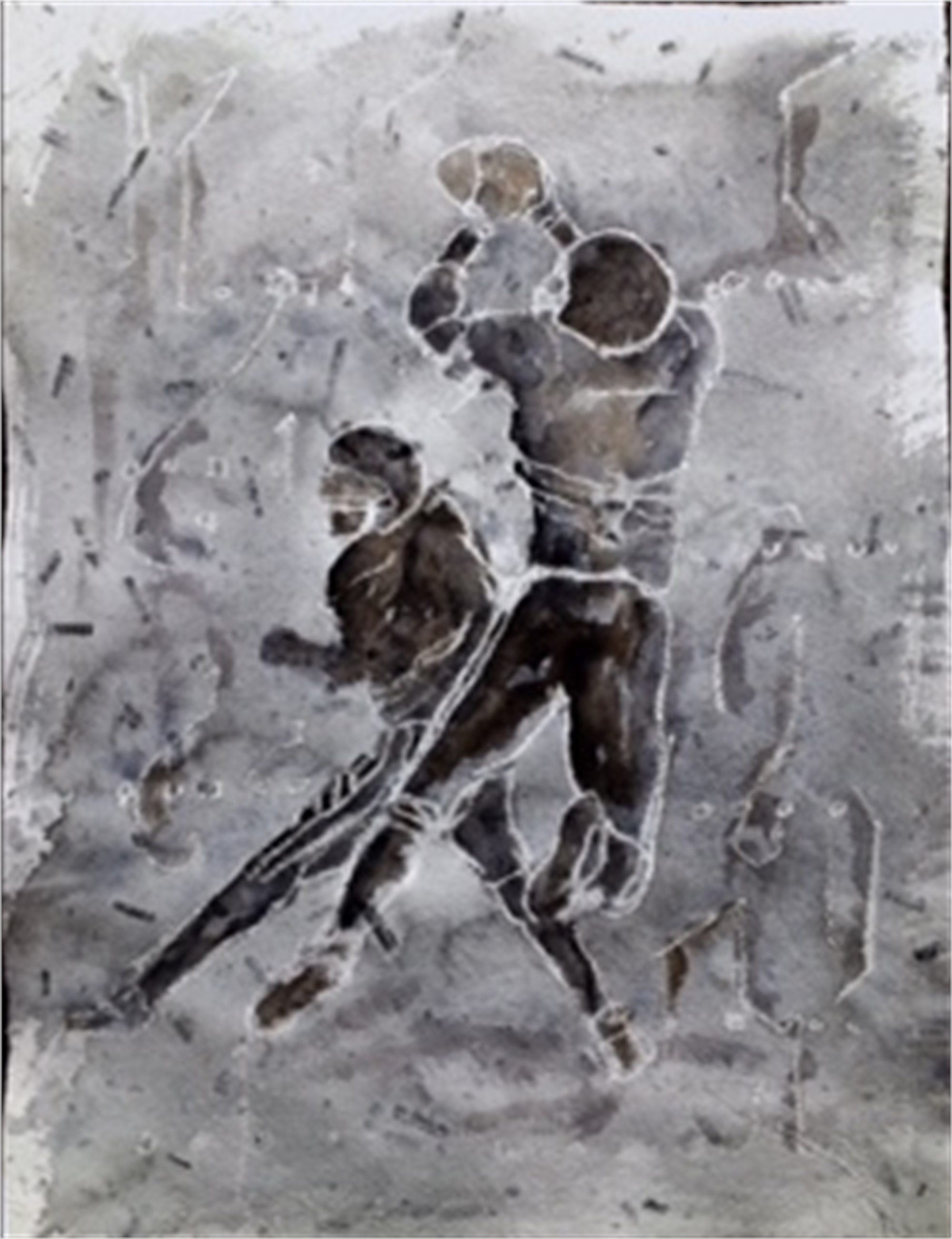 Commission Available in Your Team Colors- Offensive Winning Catch by Gary Welton