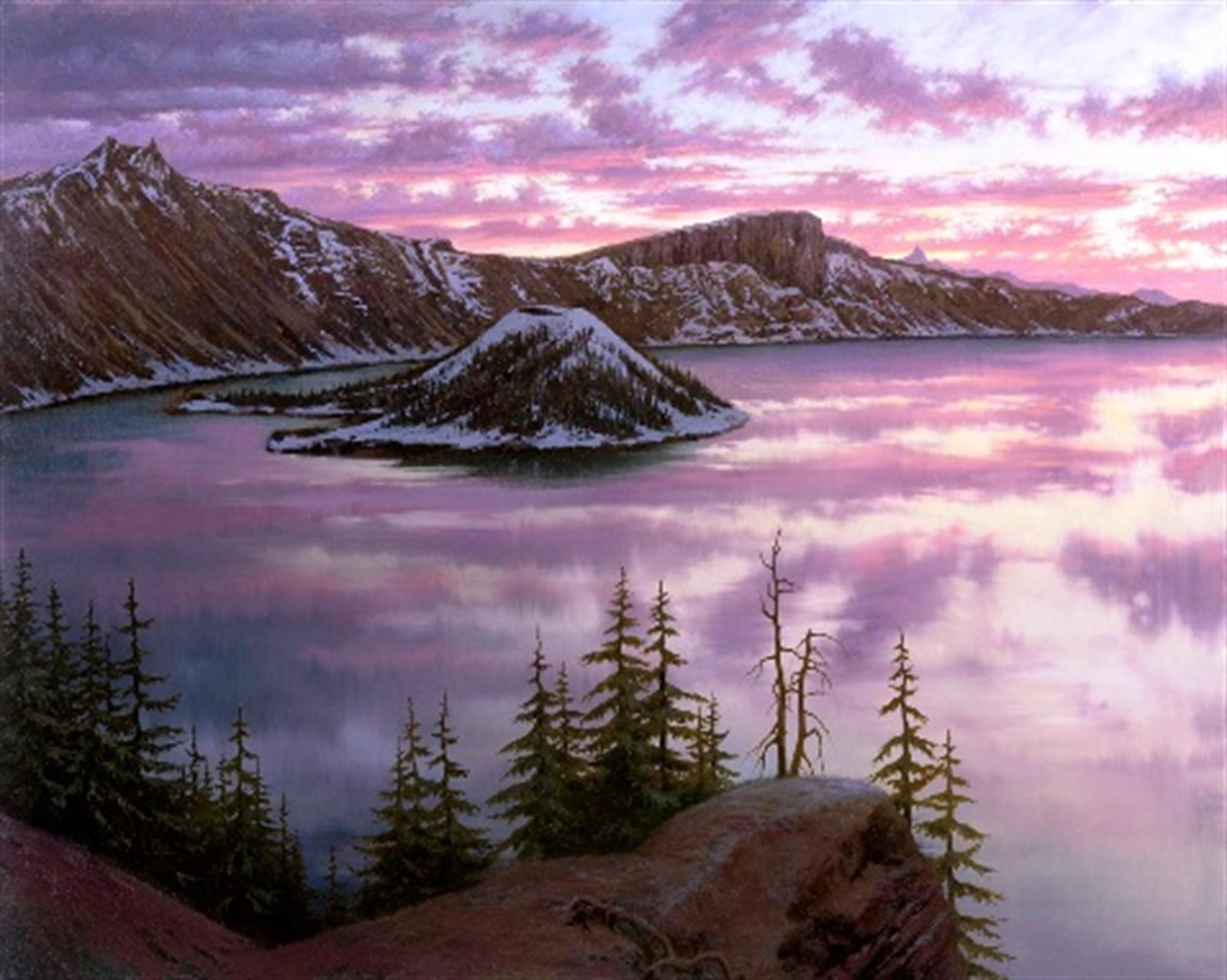 Sunset at Crater Lake by Alexei Butirskiy