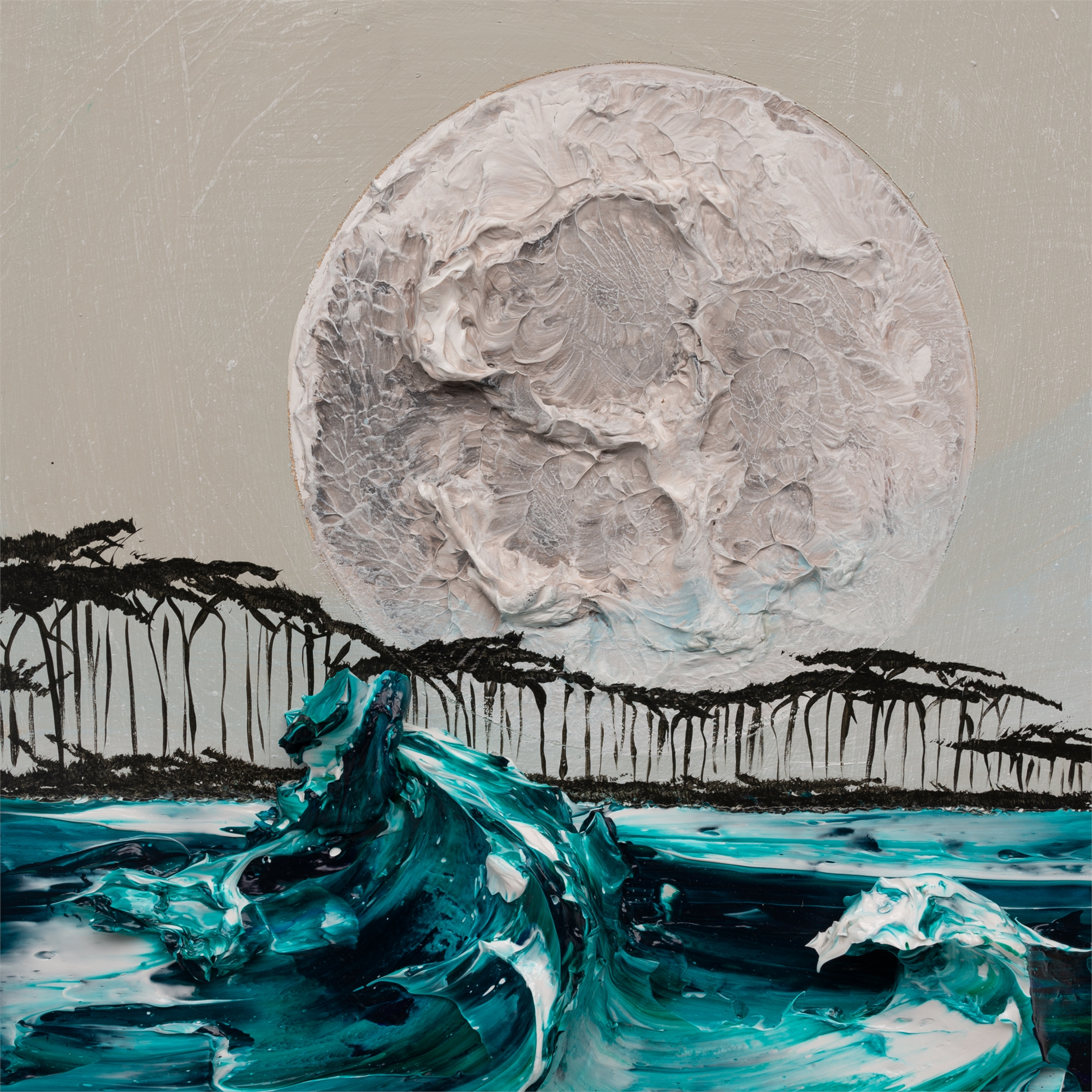 (SOLD) MOONSCAPE MS-12X12-2019-328 by JUSTIN GAFFREY