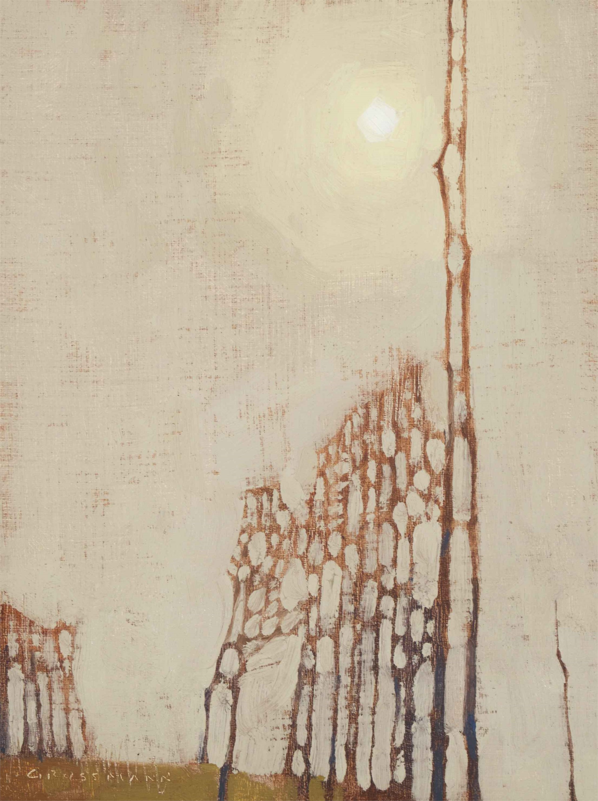 Clouded Sun and Tree Patterns by David Grossmann