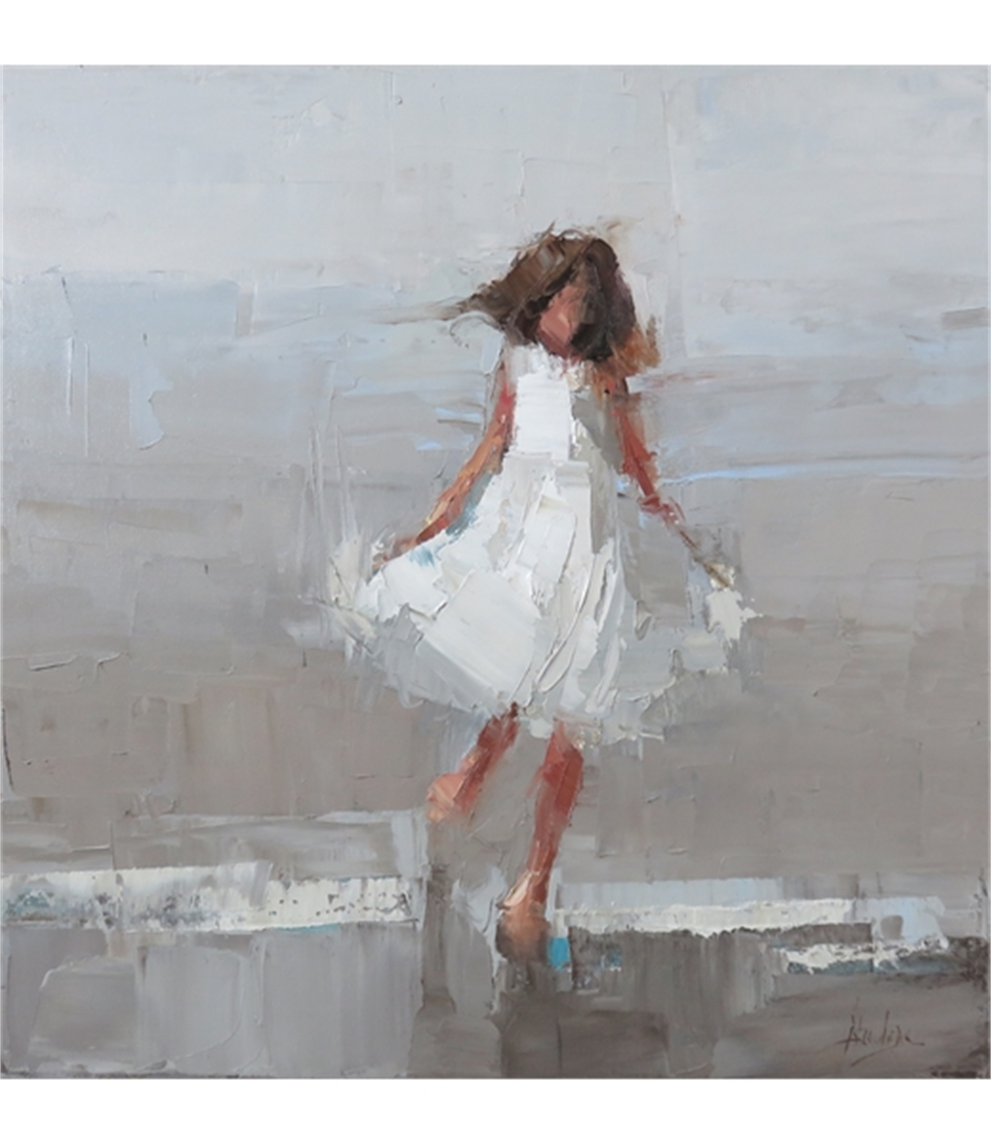 Girl in White by Barbara Flowers