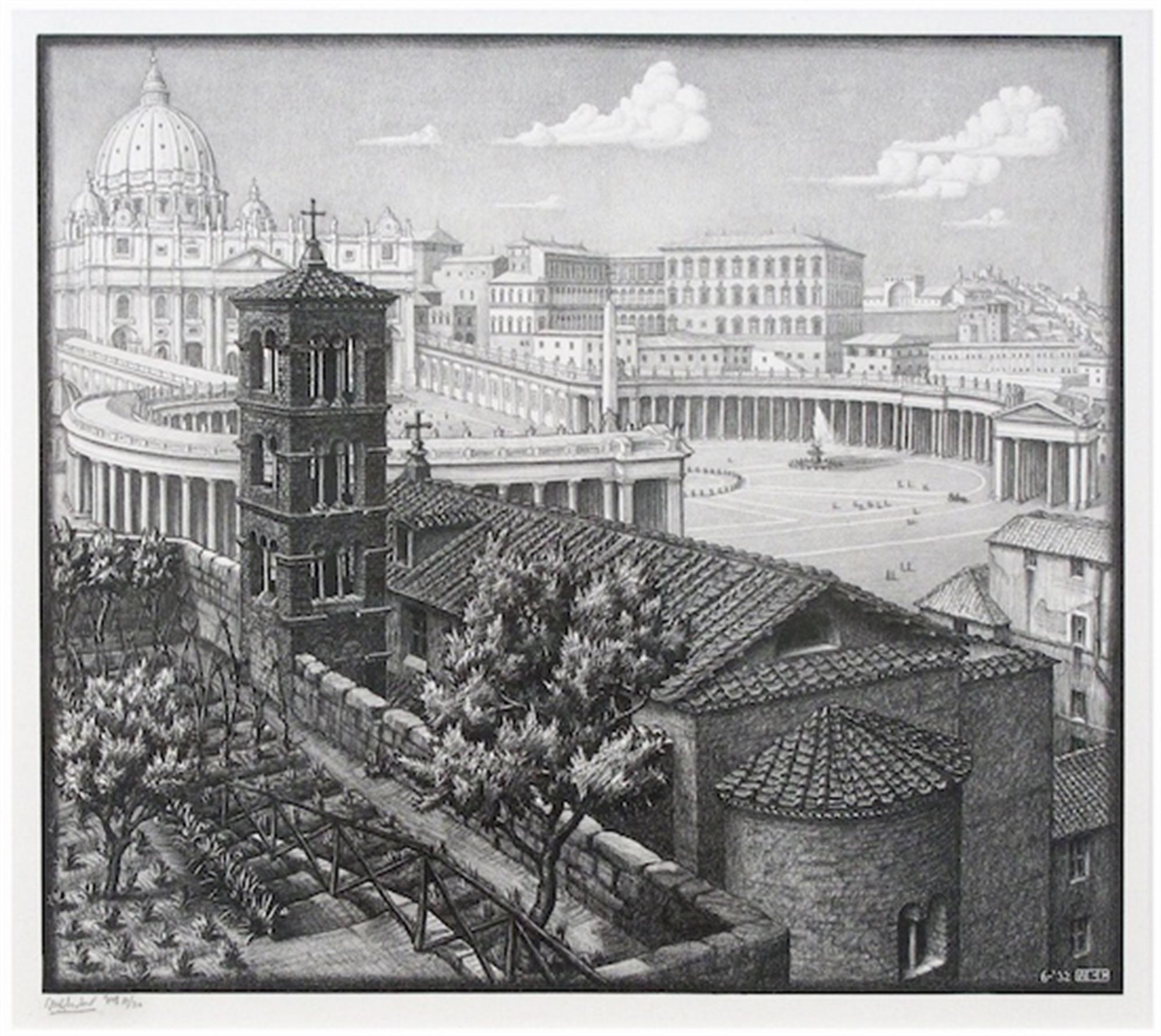 San Michele Rome by M.C. Escher