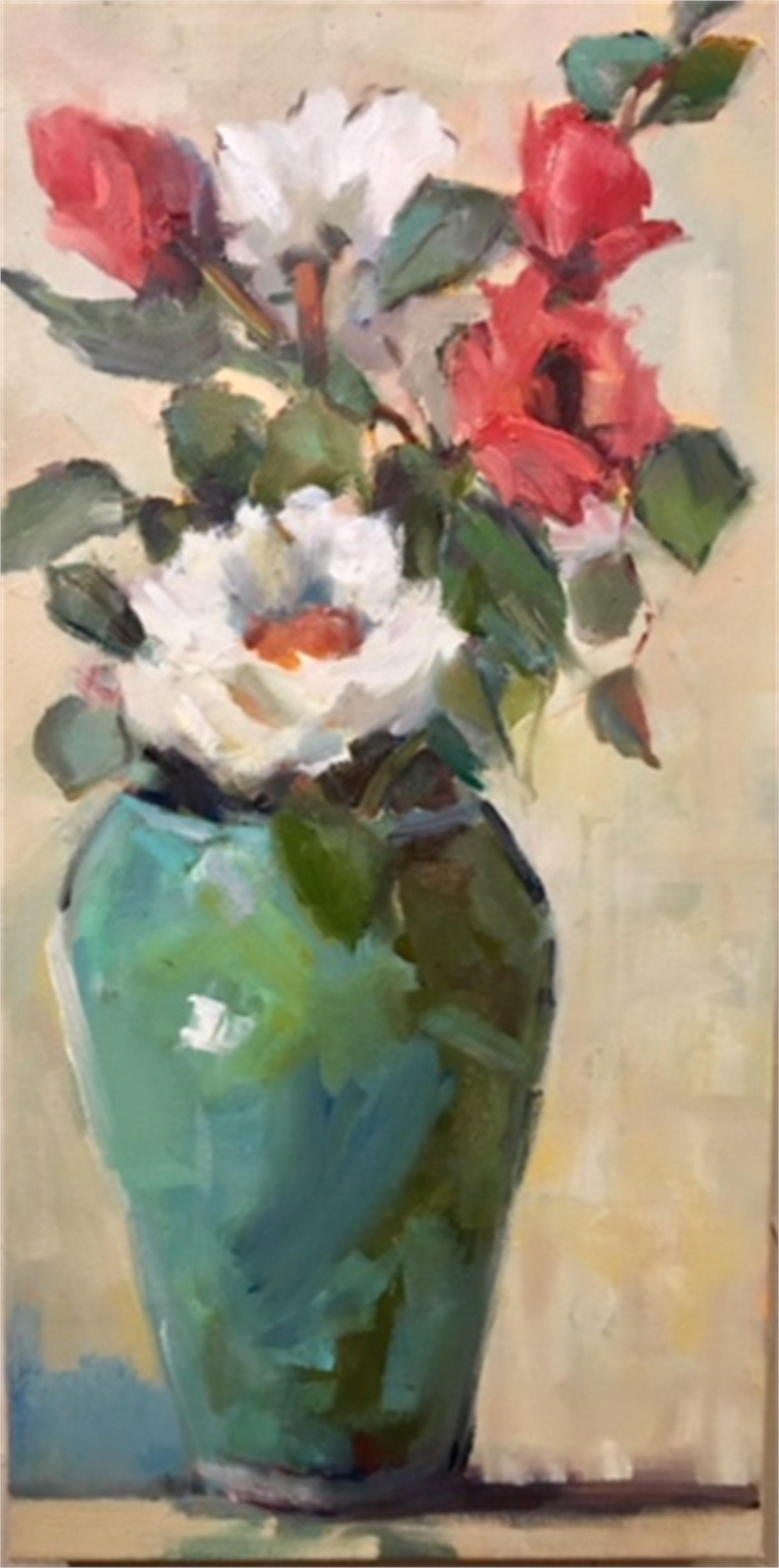 Green Vase by Jan Eubanks