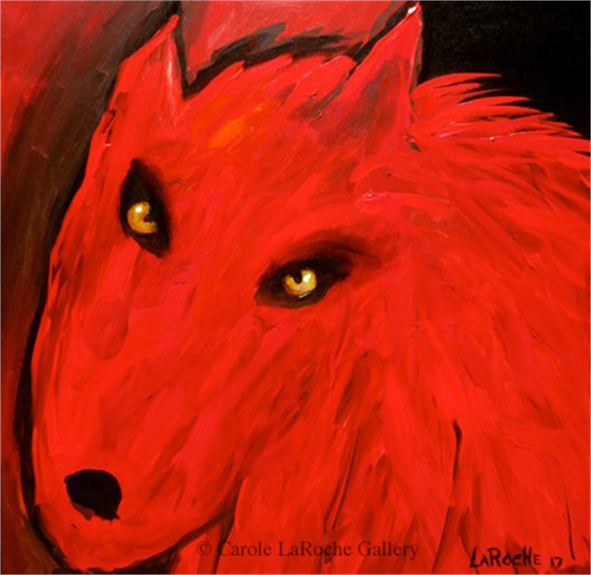 RED WOLF I by Carole LaRoche
