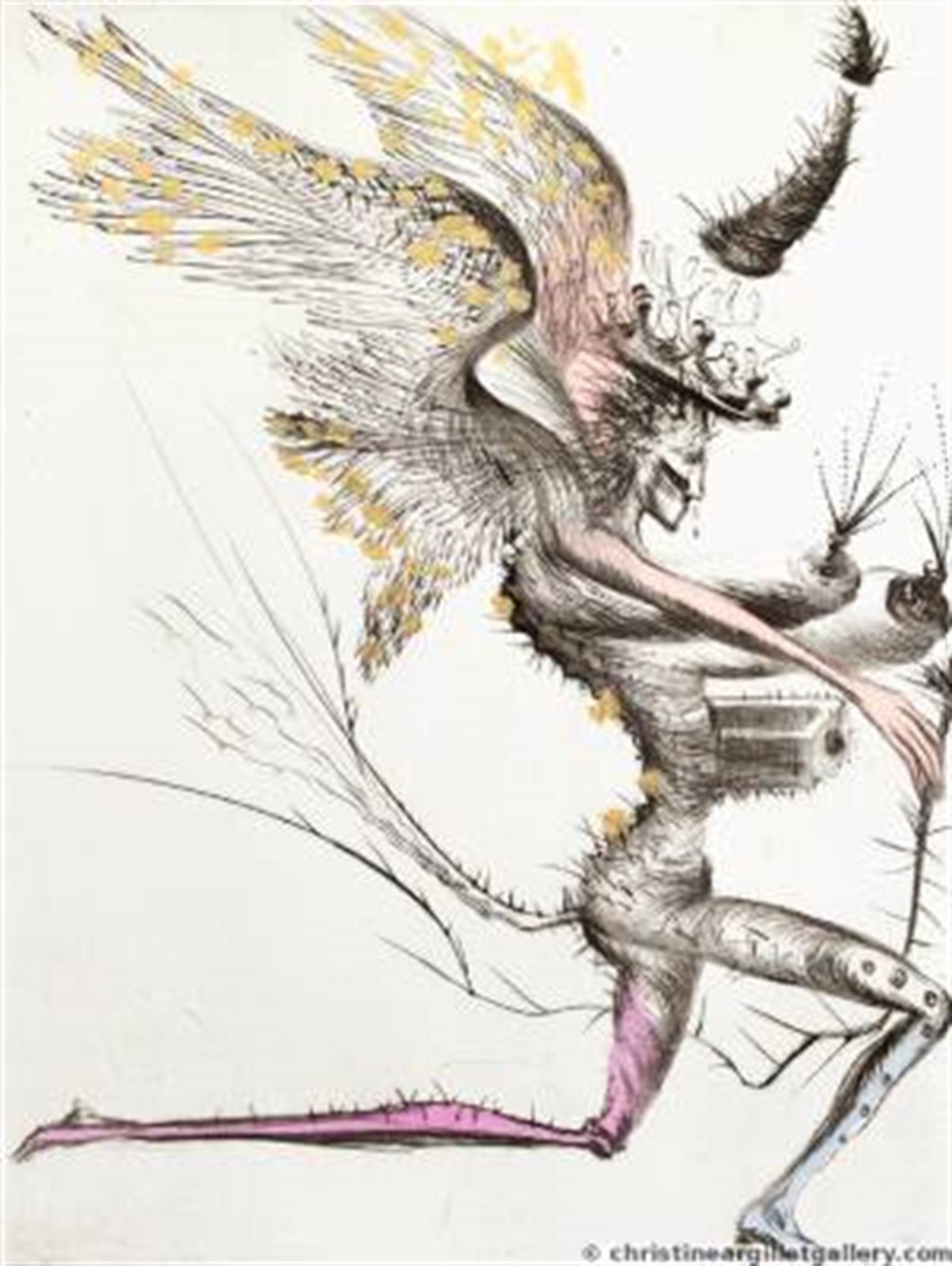 "Venus in Furs ""Winged Demon"" by Salvador Dali"