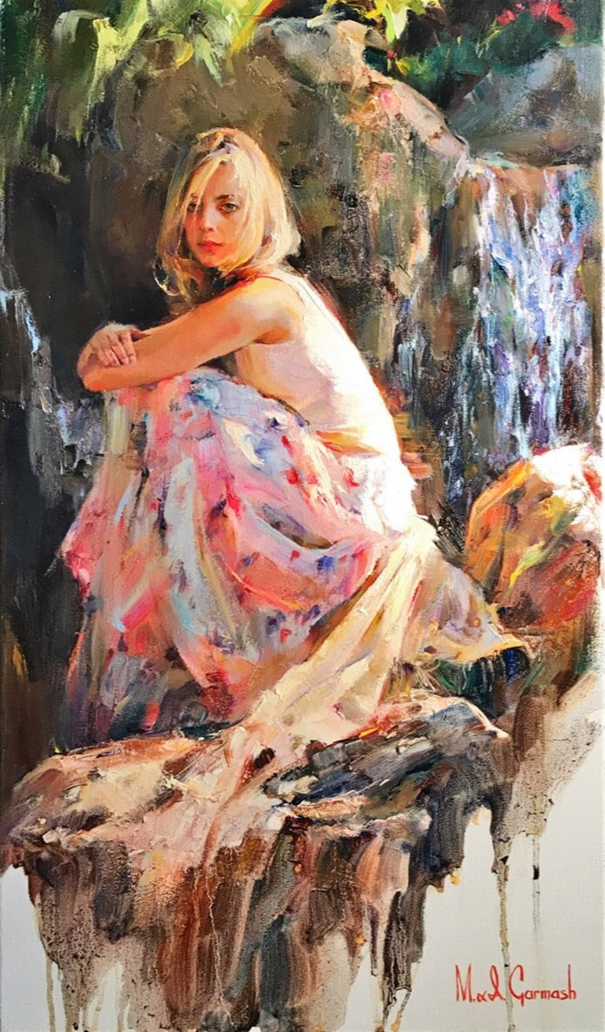 Nymph of the Waterfall by Michael And Inessa Garmash