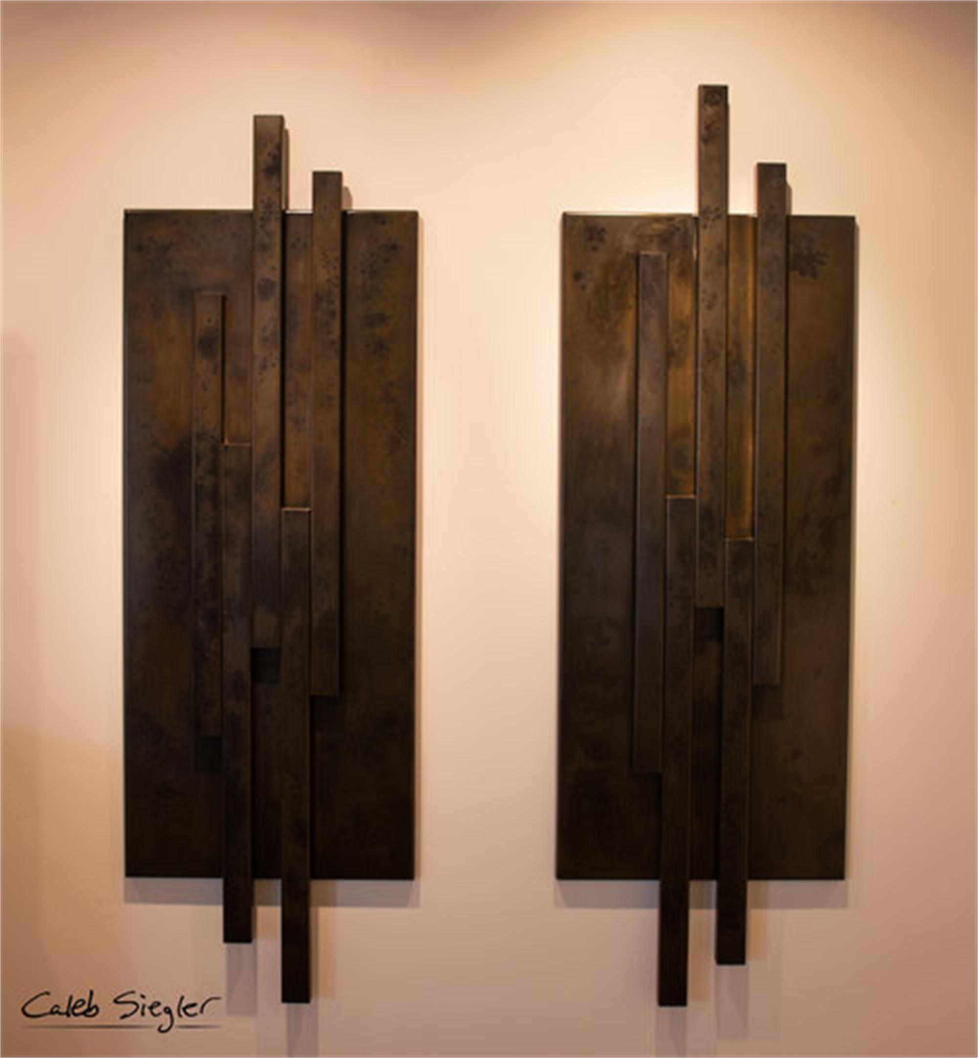 Towers (Diptych) by Caleb Siegler