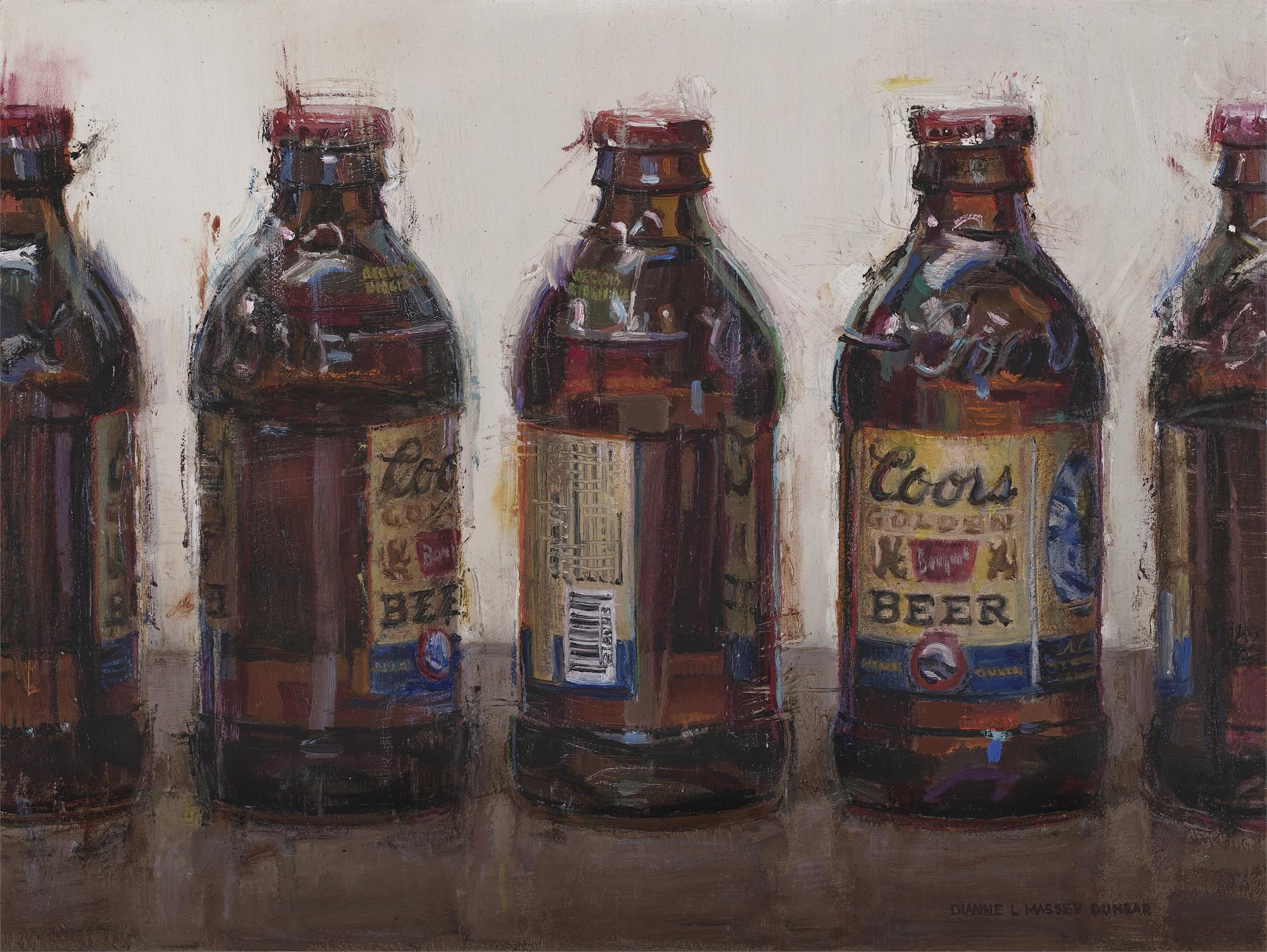 Coors Banquet Bottles by Dianne L Massey Dunbar
