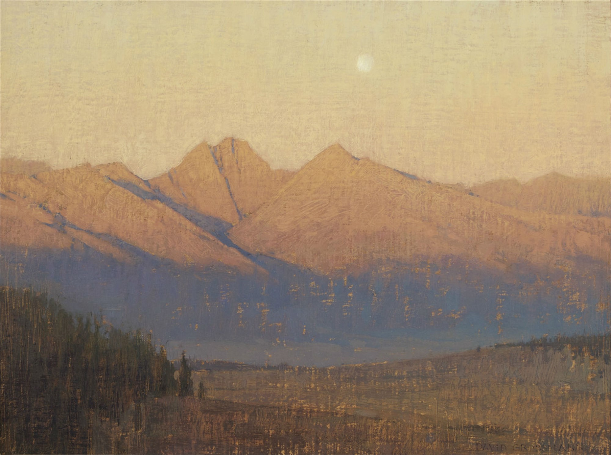 Sunrise on the Crestones by David Grossmann