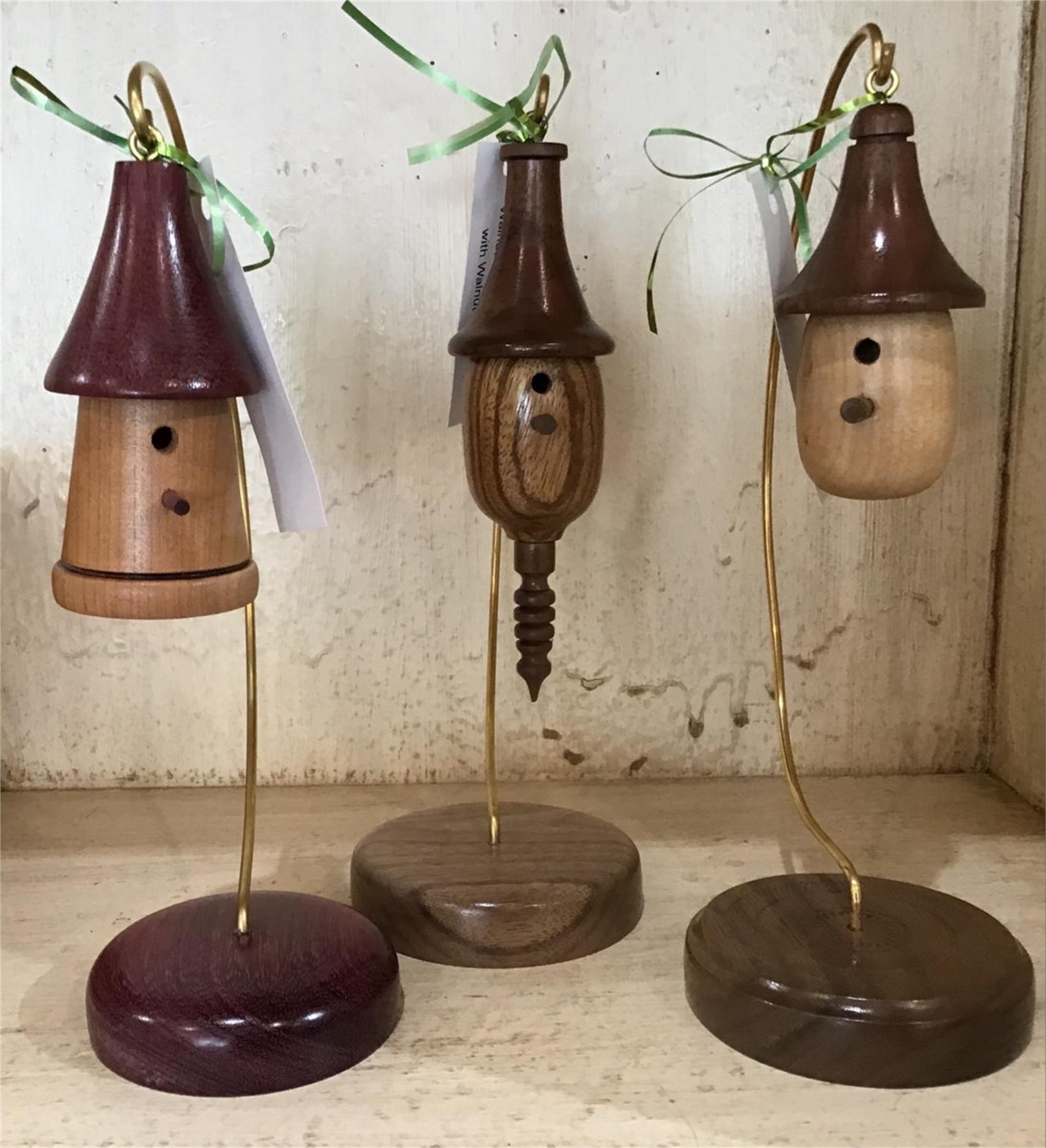 Walnut & Zebrawood Birdhouse by Lynn Chastain