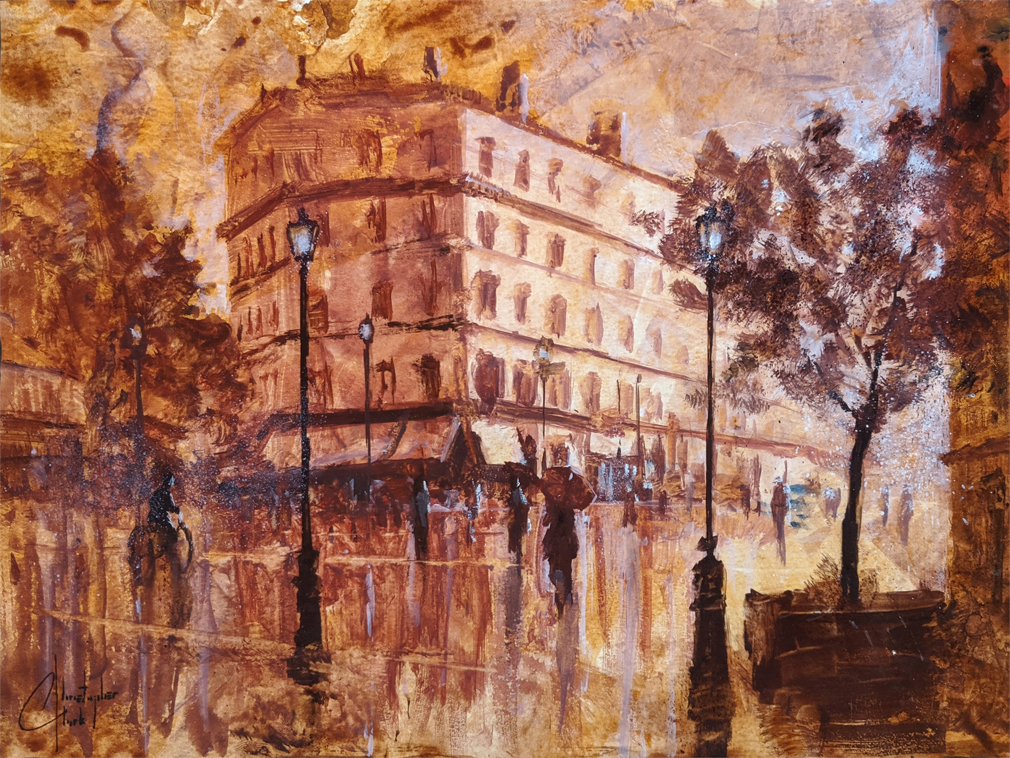 Sepia Tone, Paris IV by Christopher Clark