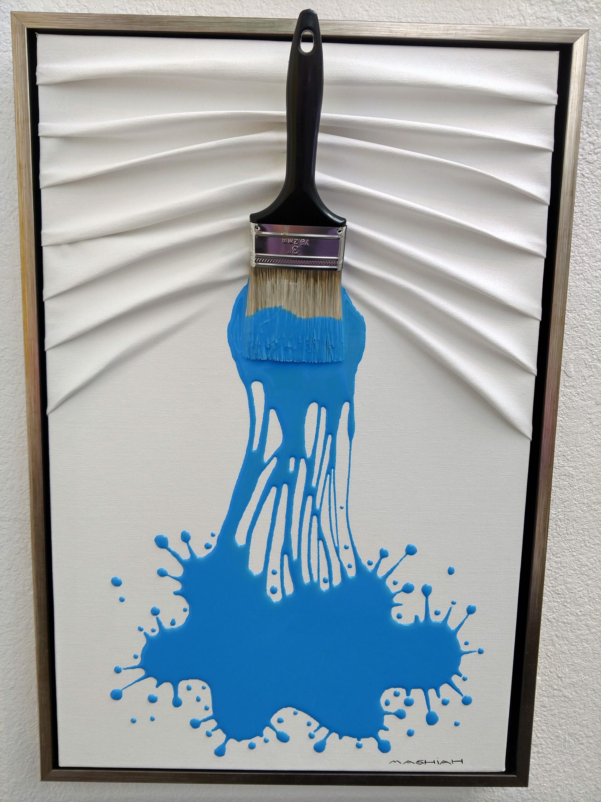 Lets Paint Small Blue on White by Efi Mashiah