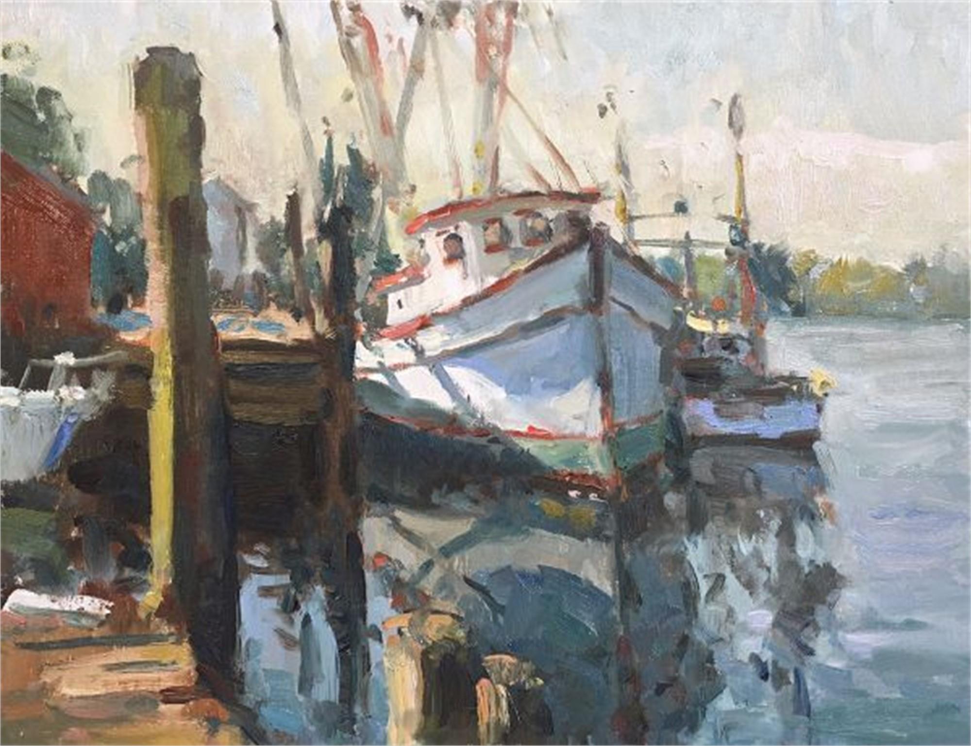 Morning Docks by Richard Oversmith