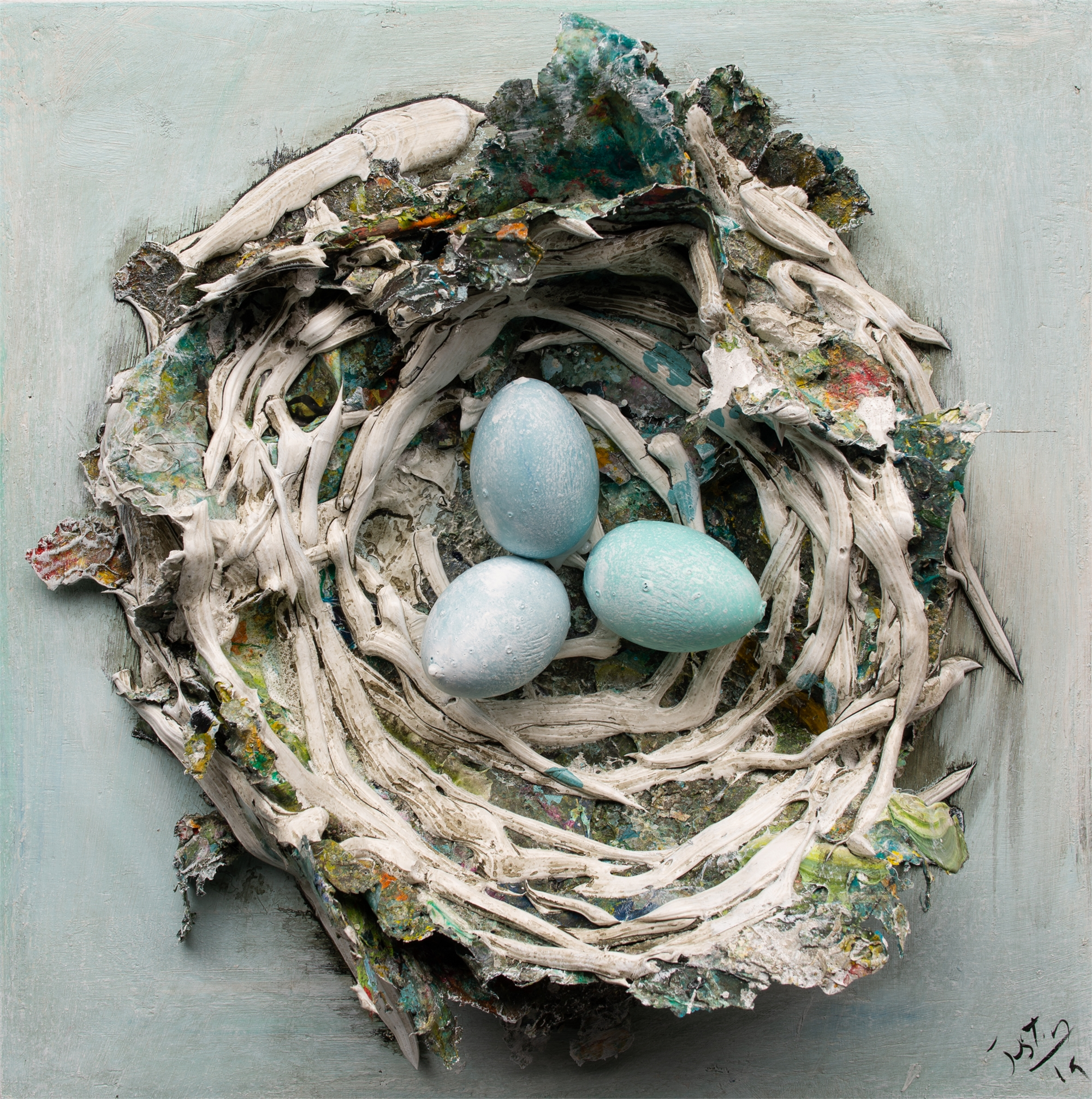 (SOLD) NEST NS-16x16-2019-264 by JUSTIN GAFFREY