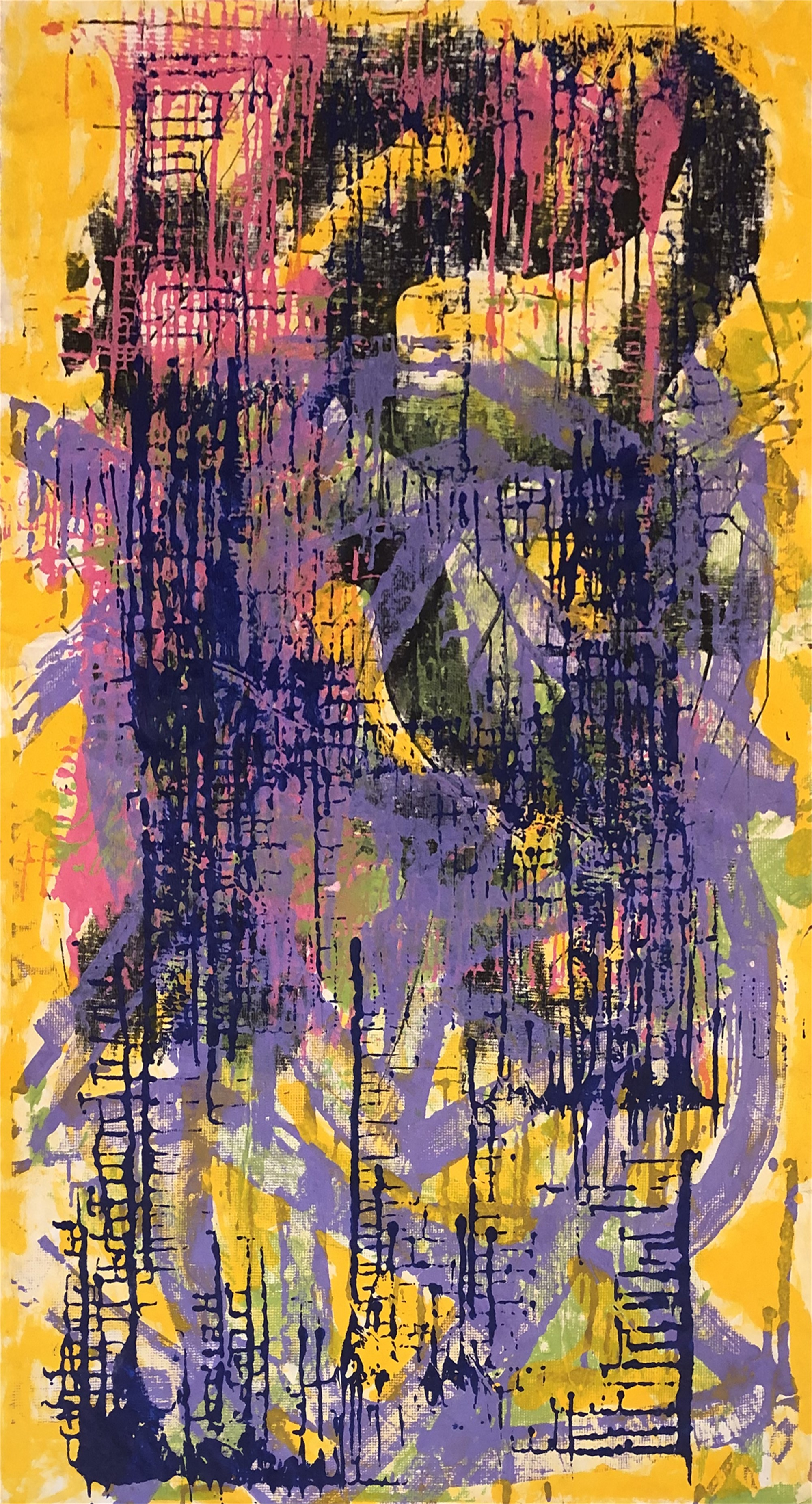 Untitled (yellow, blue, pink) by Ibsen Espada