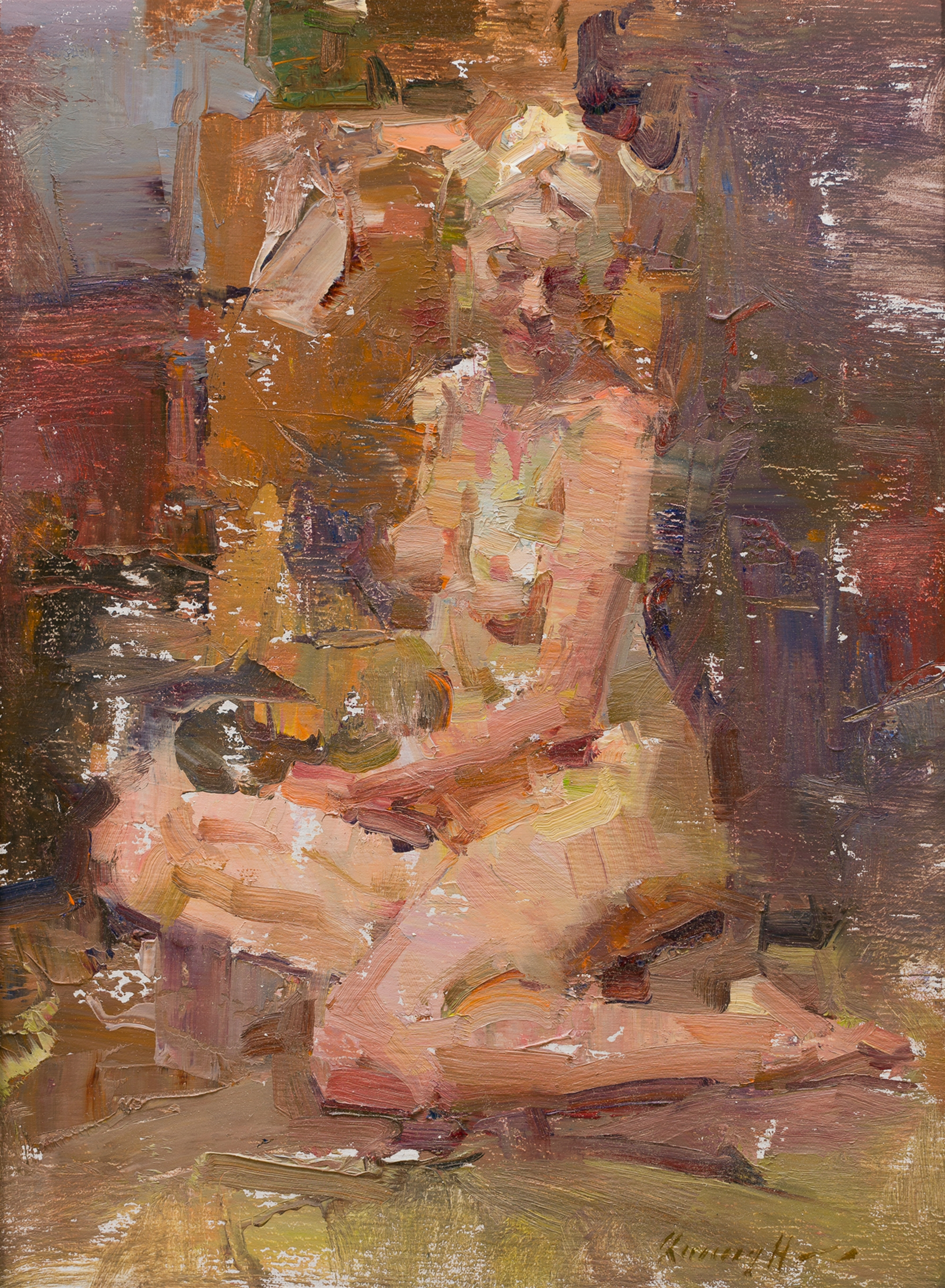 Seated Nude by Quang Ho