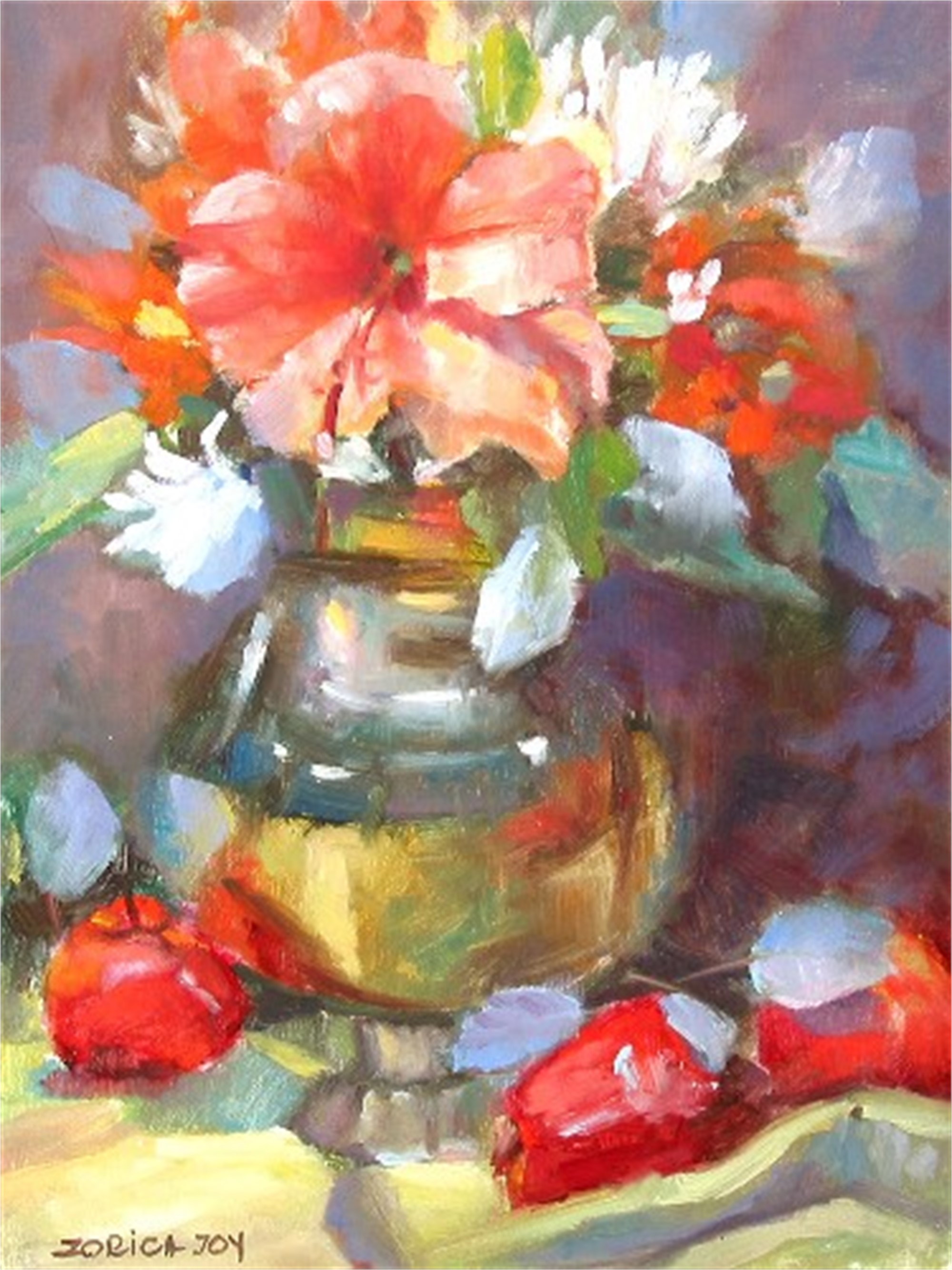 STILL LIFE WITH APPLES by JOY