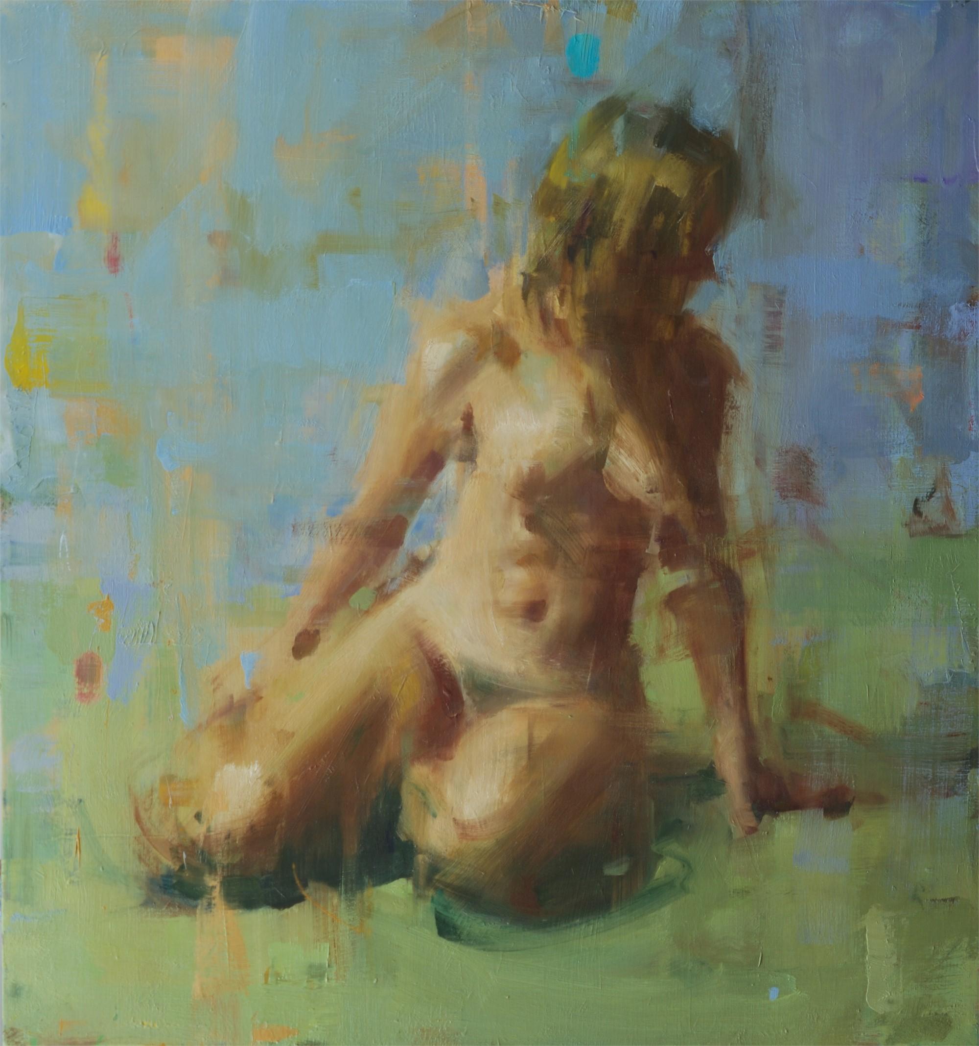 Nude on Green by David Shevlino