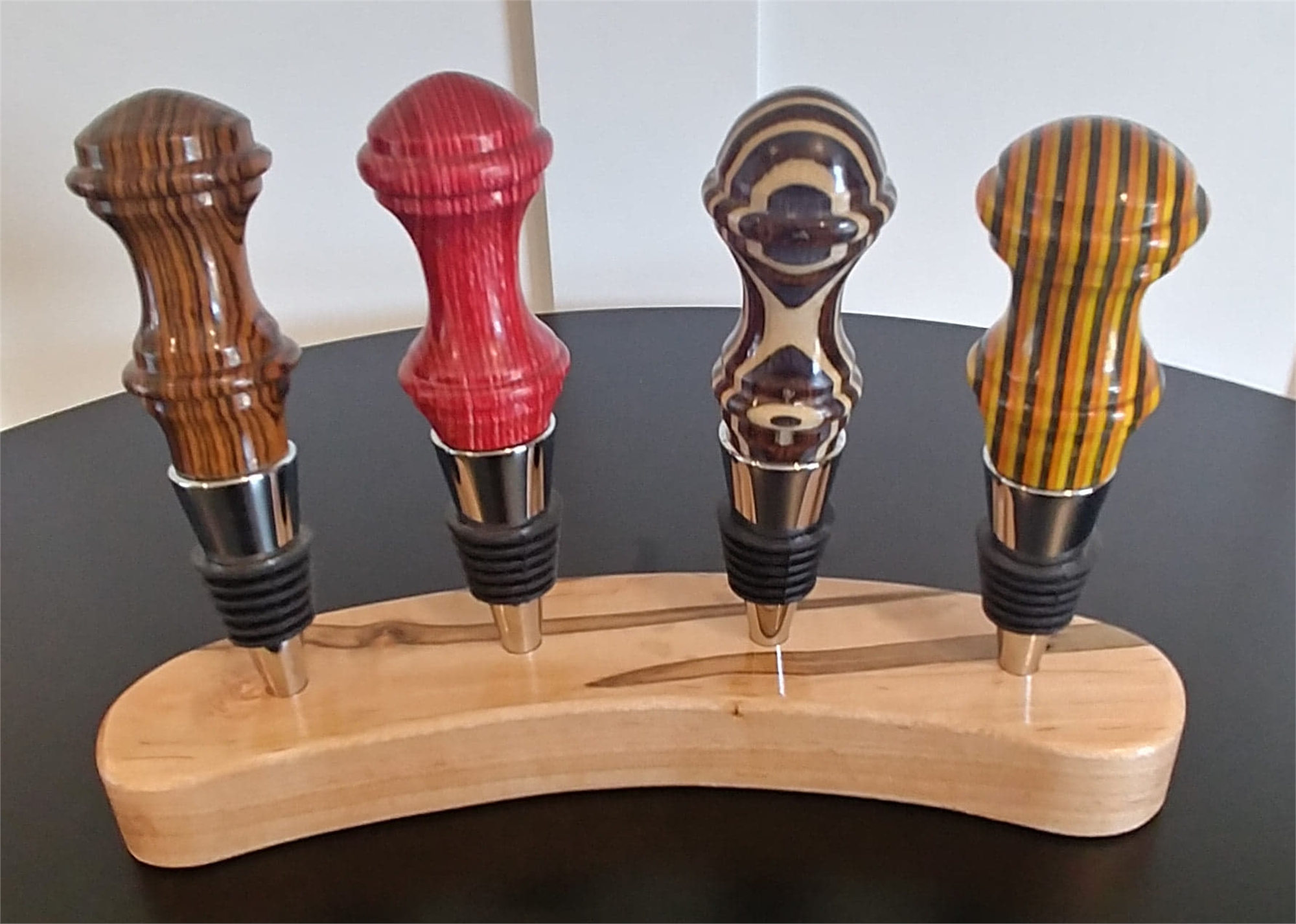 Bottle Stoppers Spectraply by Gary Dahrens (Lafayette, OR)