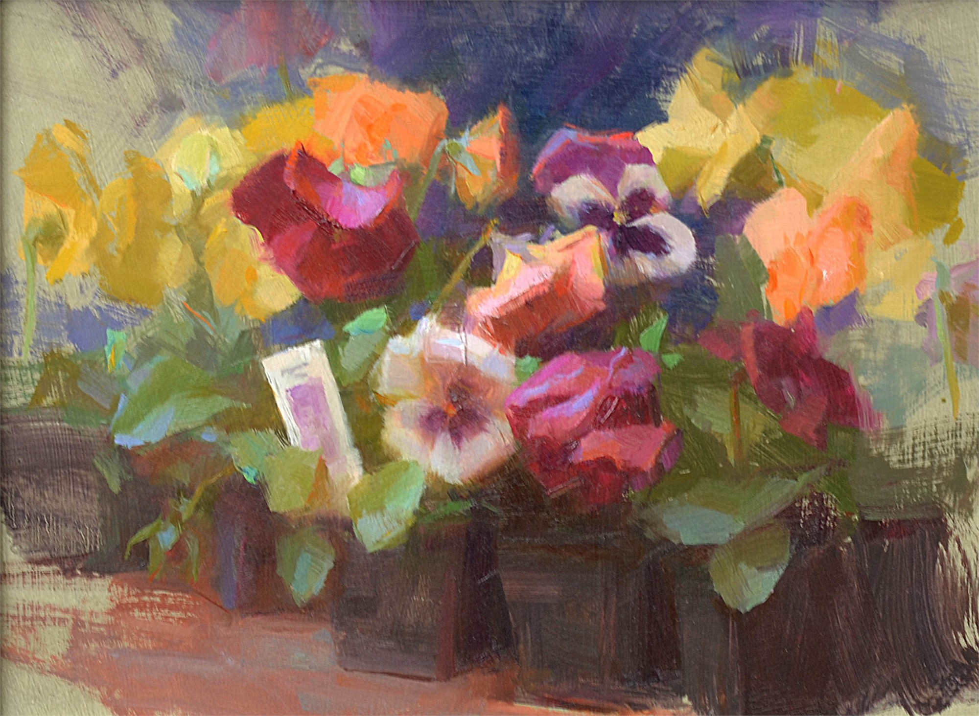Pansies by Susan Lyon
