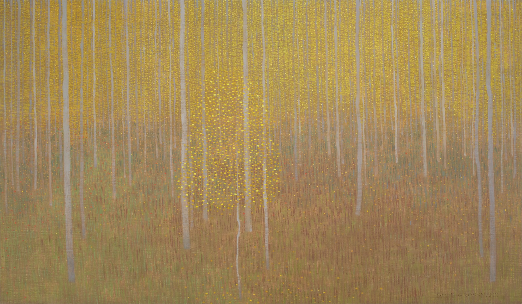 Hovering Autumn Leaves by David Grossmann