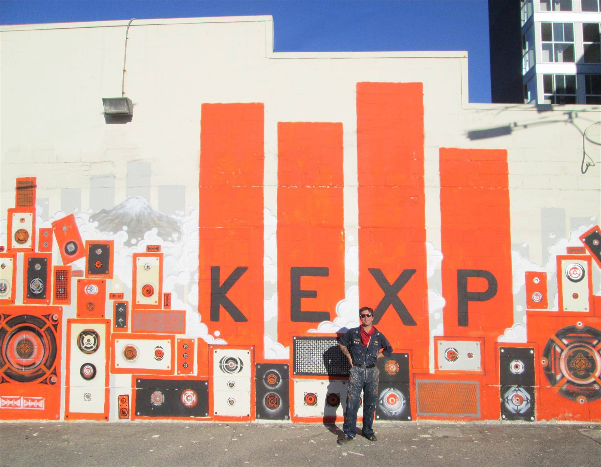 KEXP Mural | Jonathan Wakuda Fischer by Commissioned Project