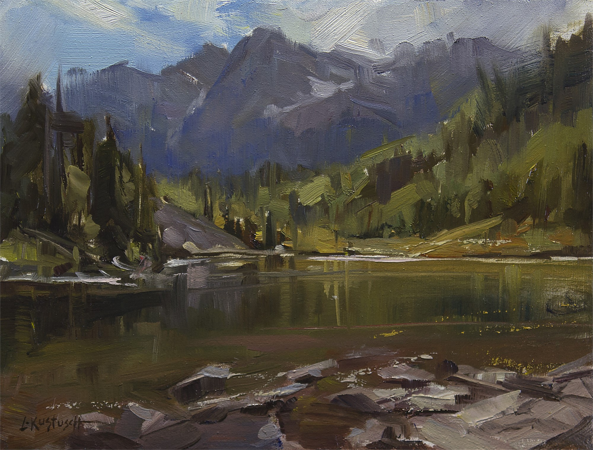 Plein Air at Maroon Bells by Lindsey Kustusch