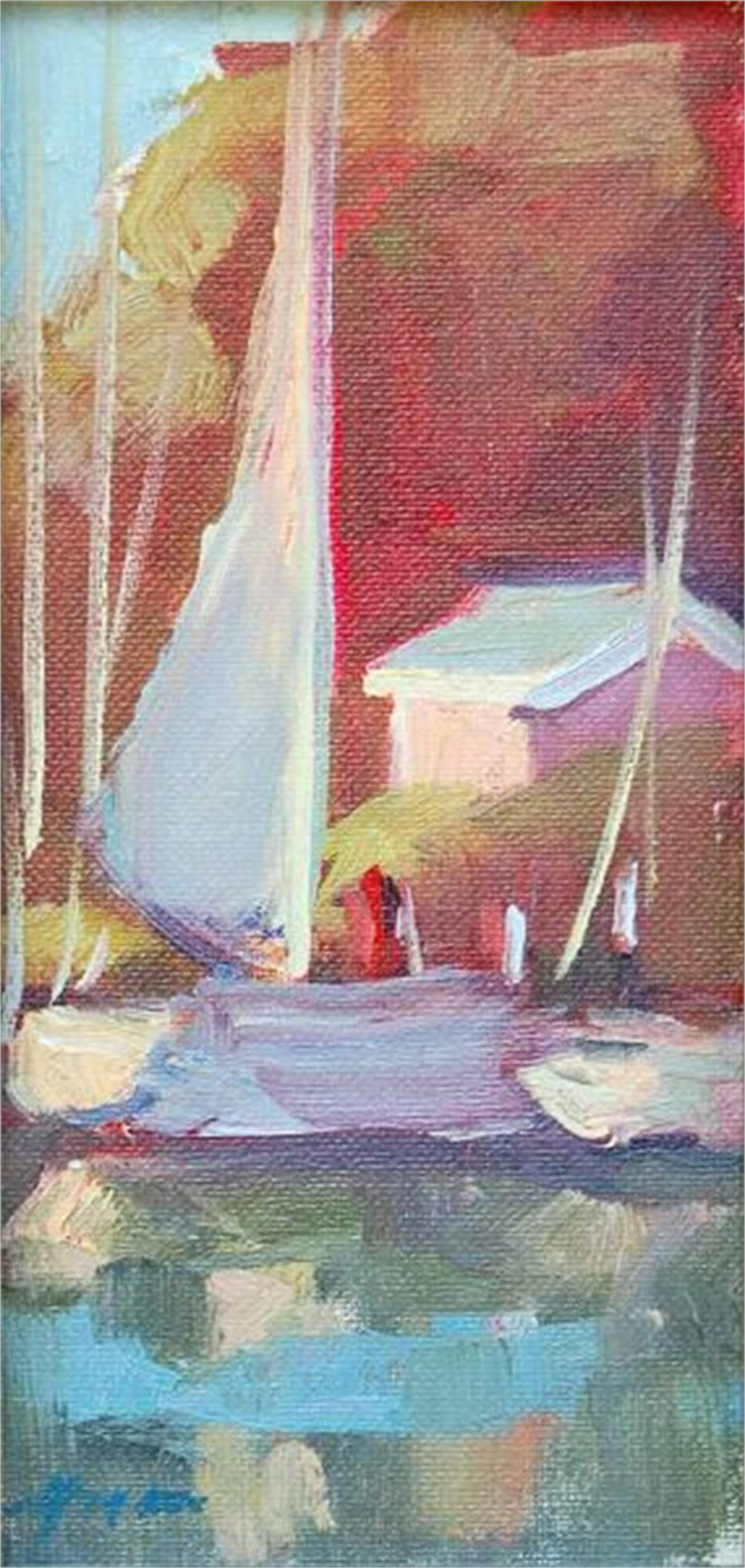 Docked at Hope Town I by Karen Hewitt Hagan