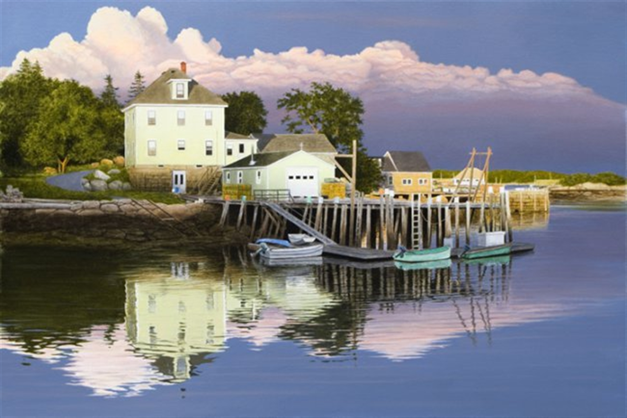 Late Evening in Maine by Alexander Volkov