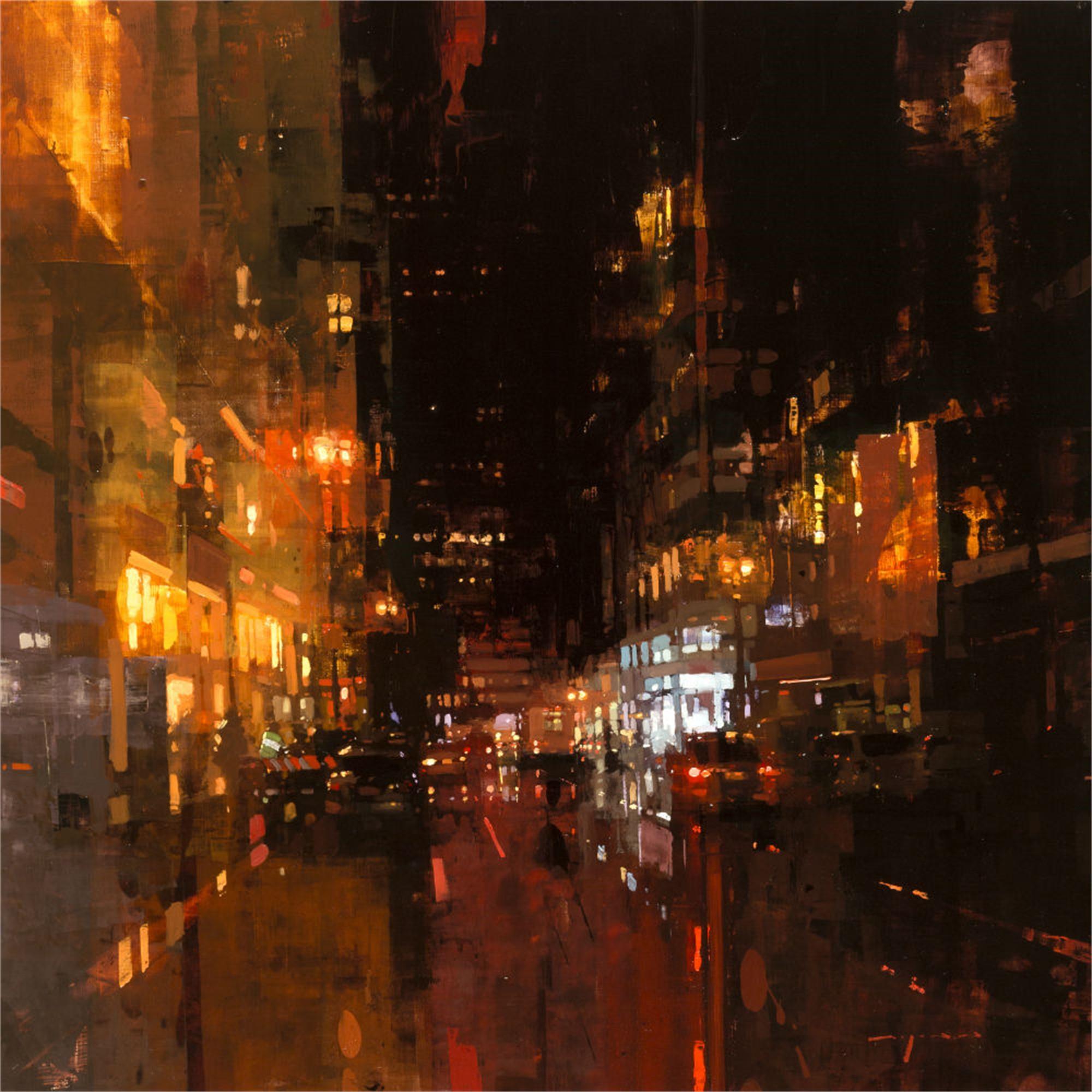 SF Night in Red by Jeremy Mann