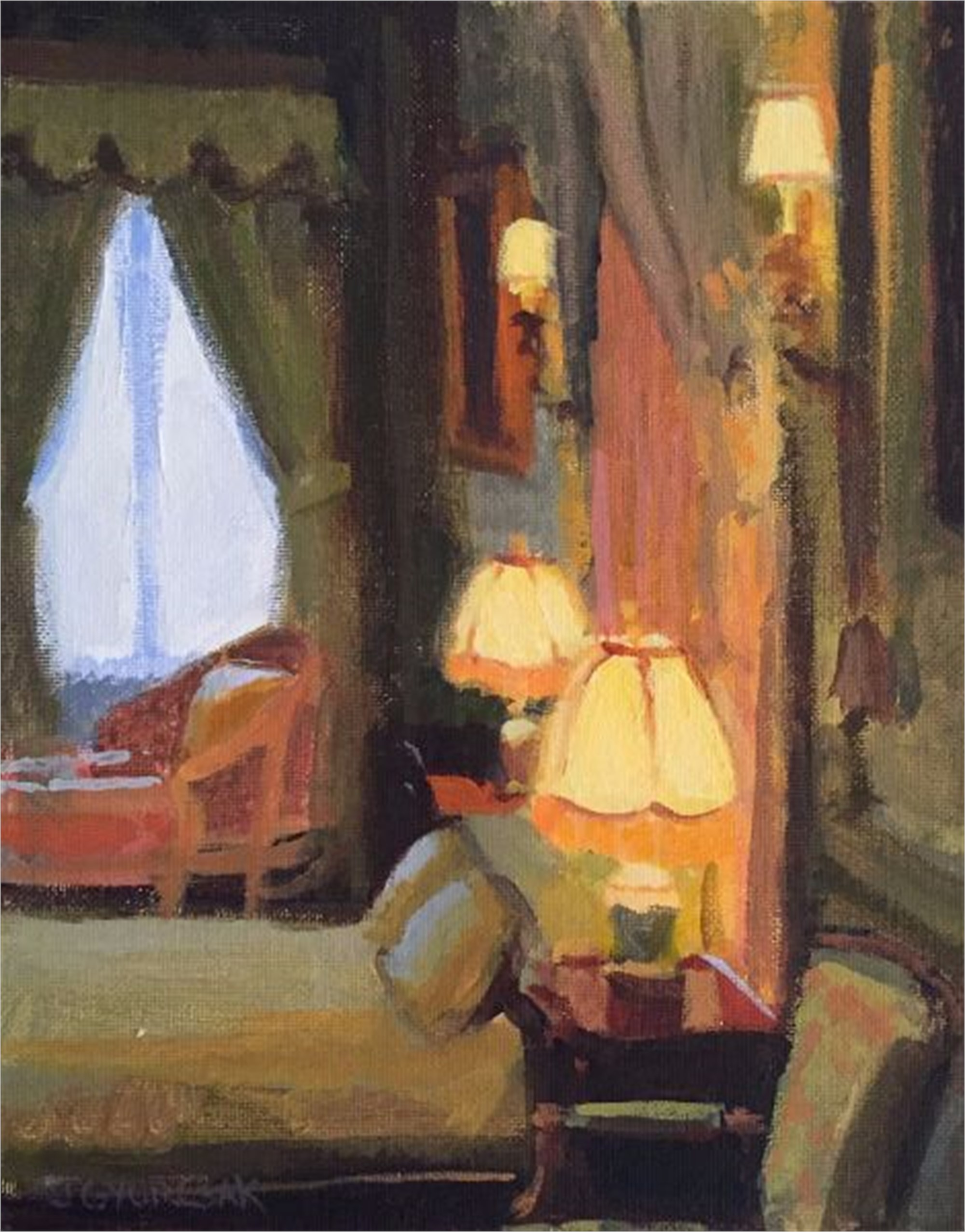 Lamp Lit Room by Joe Gyurcsak