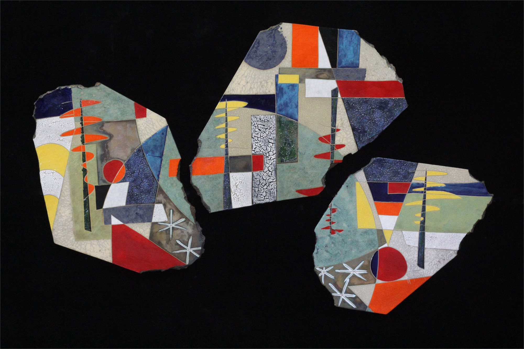 Reflection Triptych 68x44 by Michael Gustavson