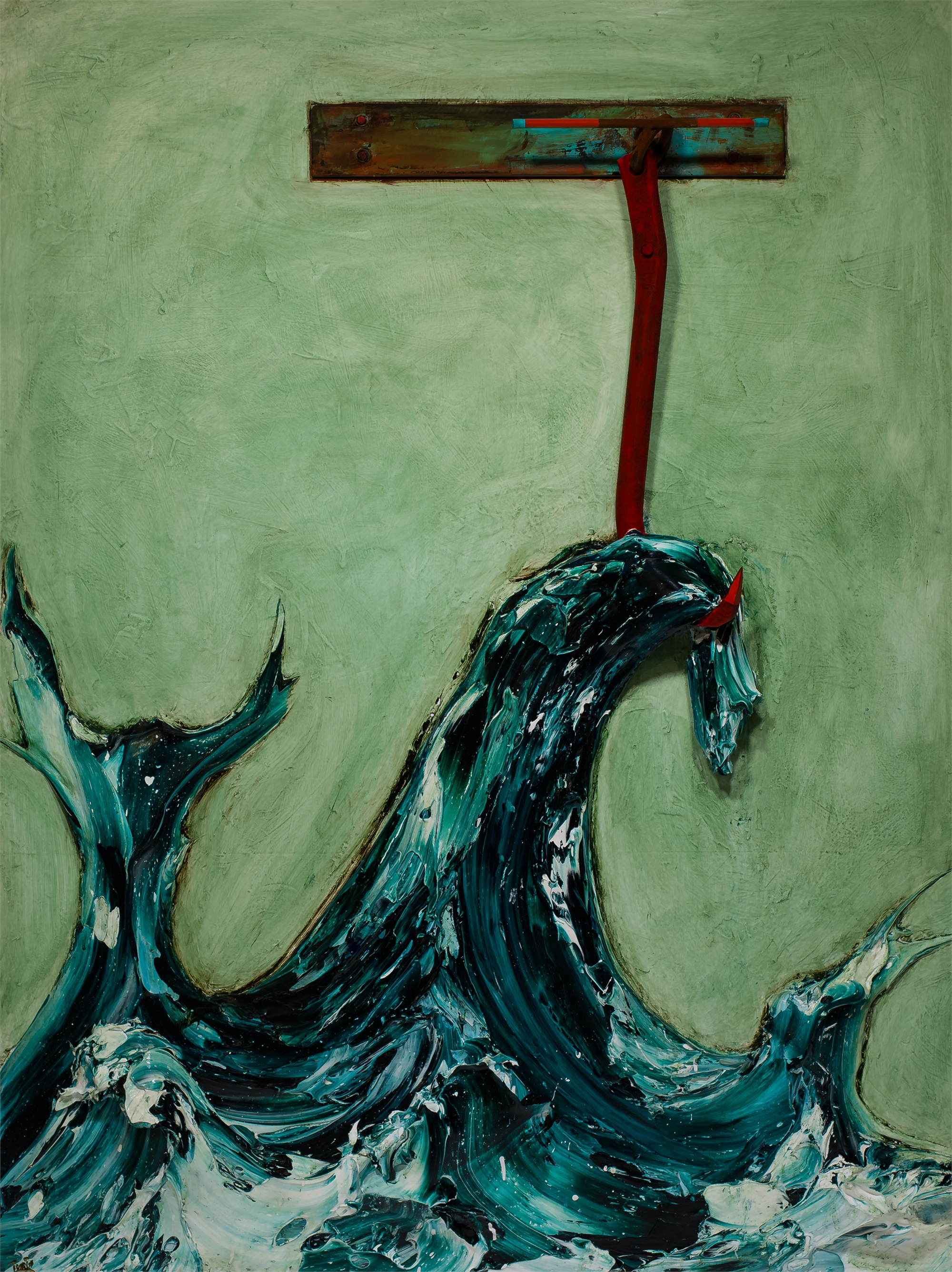Hooked Wave WV54X72-2018-339 by Justin Gaffrey