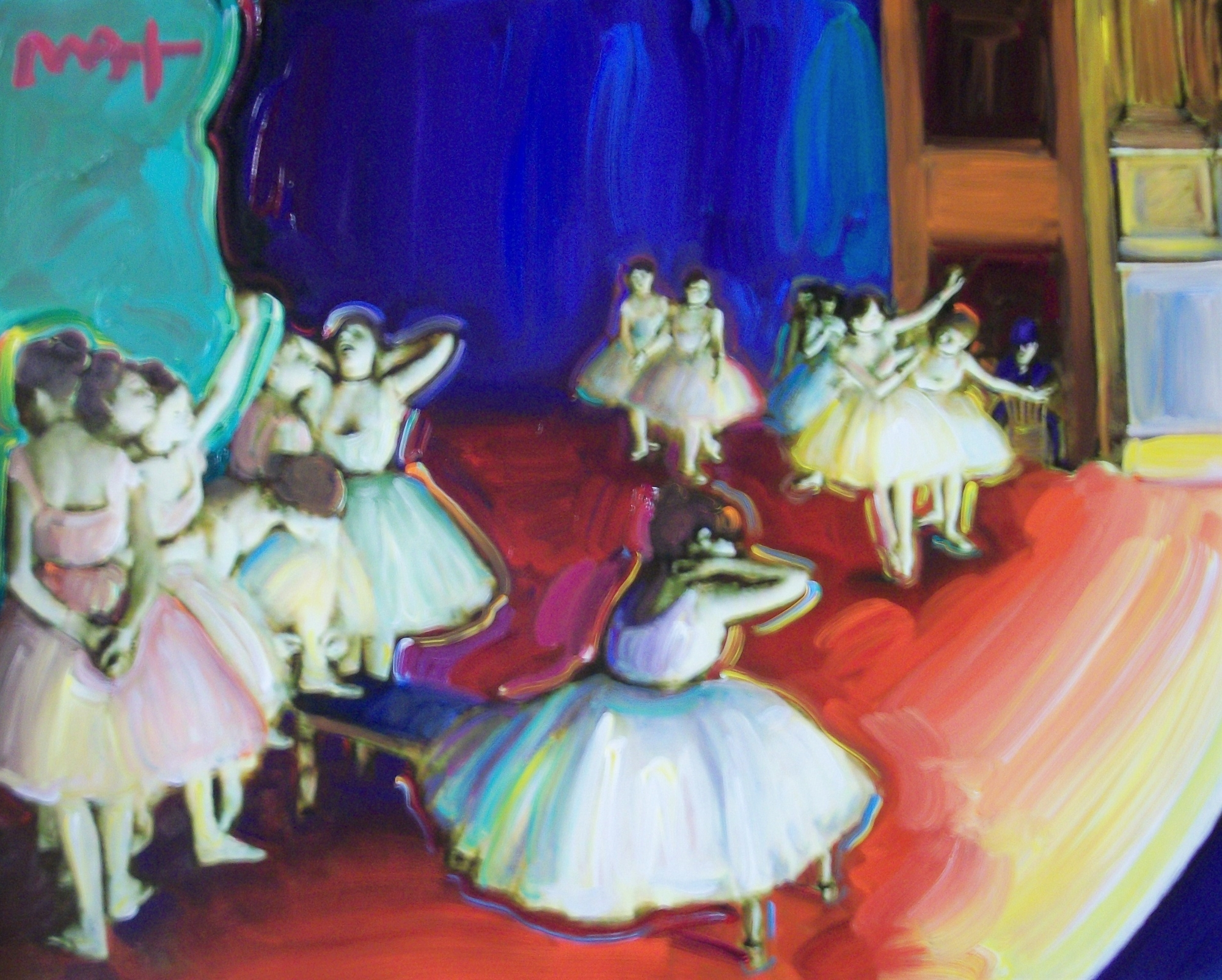 HOMAGE TO DEGAS:DANCE BALLET REHERSAL by Peter Max