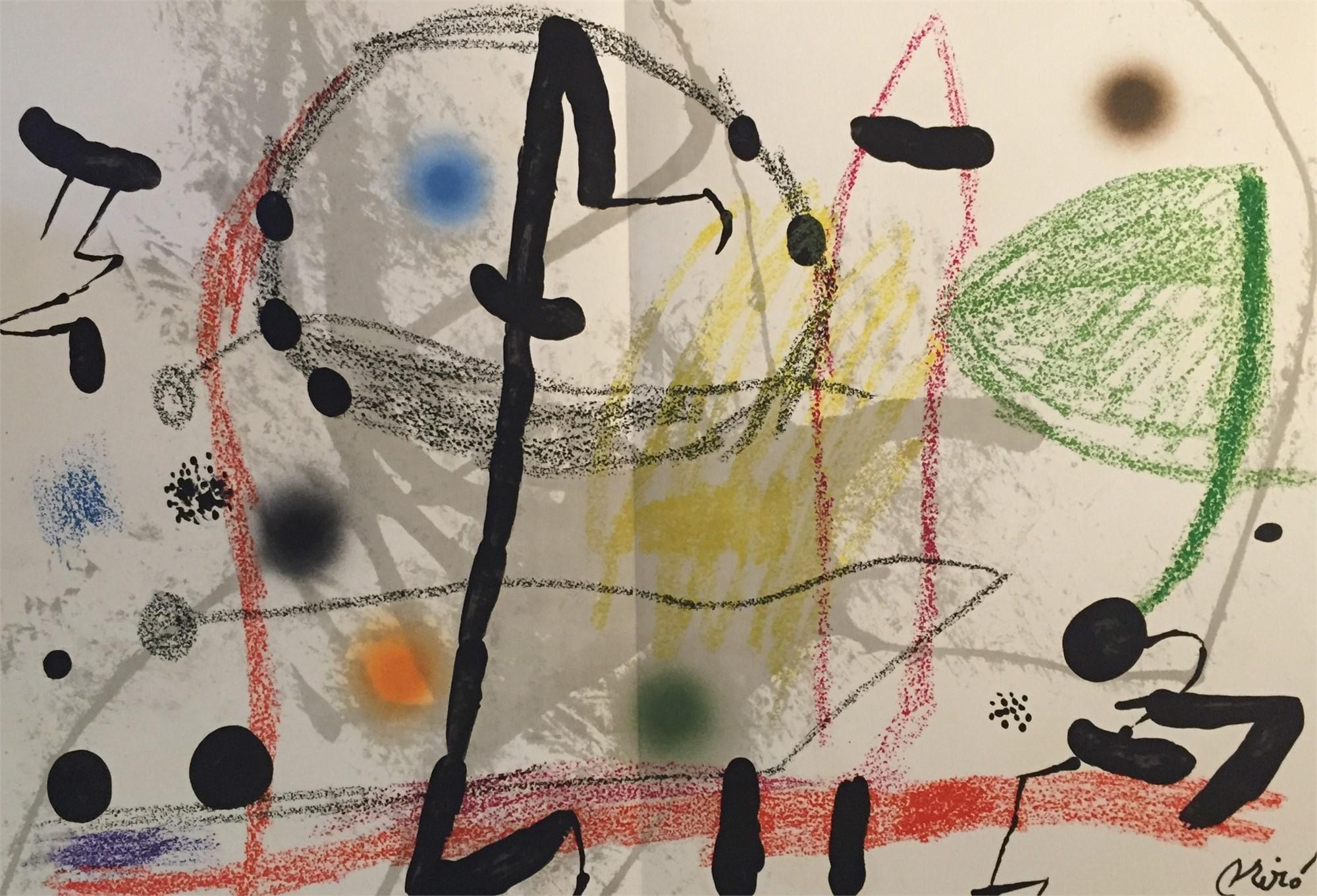 Maravillas con Variaciones Acrosticas en El Jardin de Miro Plate 13 by Joan Miro