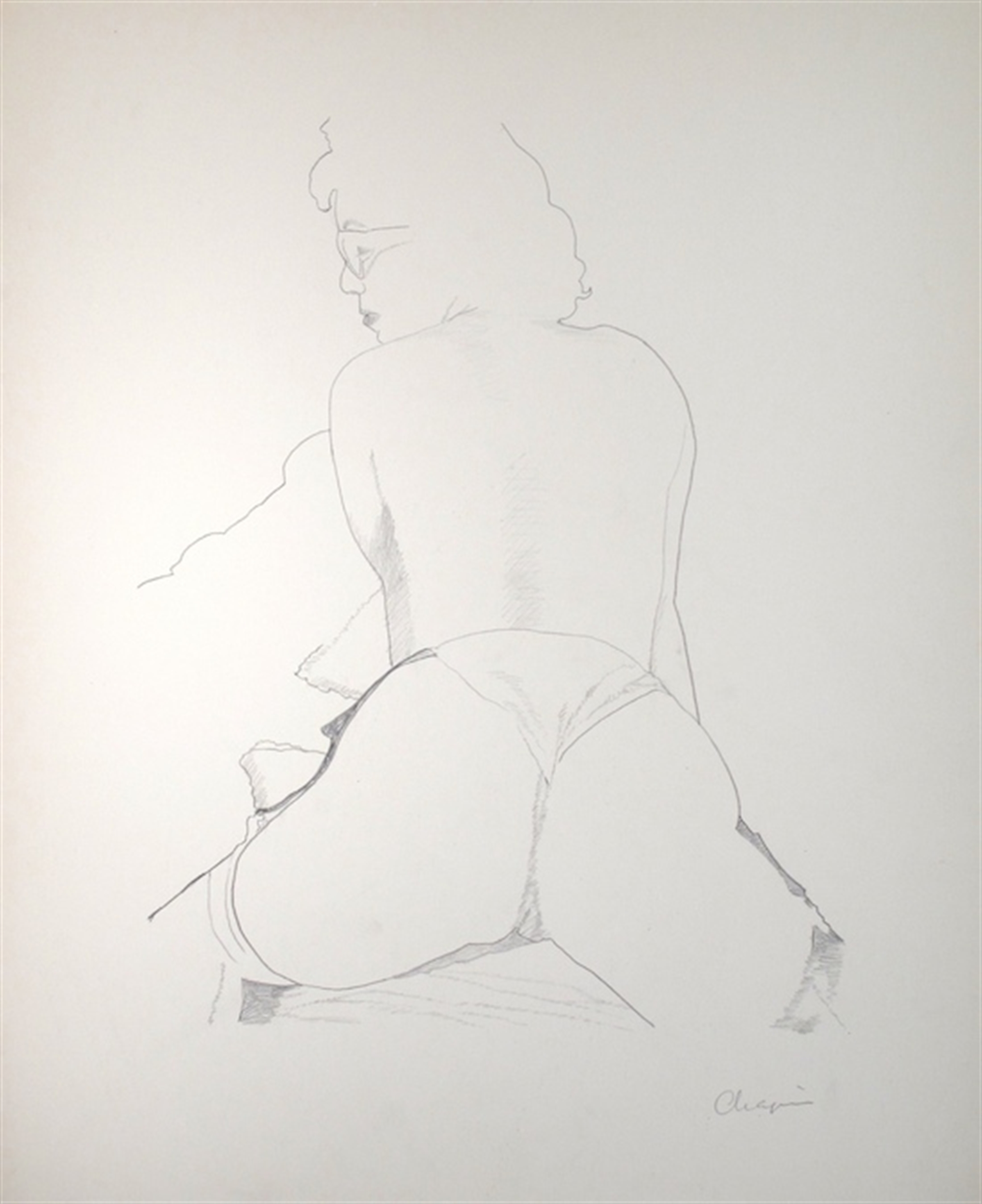 Legs Spread (Rear View) by David Chapin
