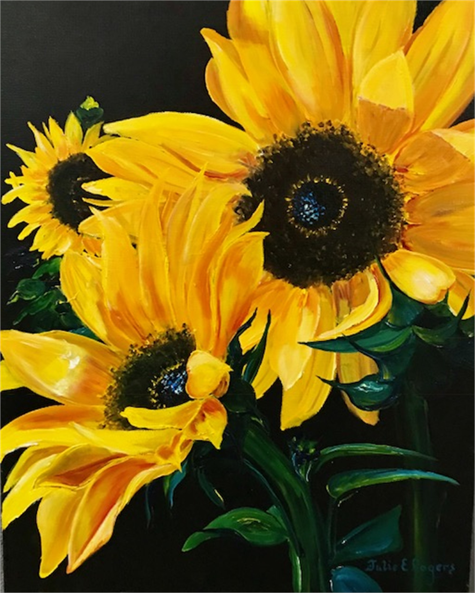 Sunflowers #3, 2018 by Julie Rogers