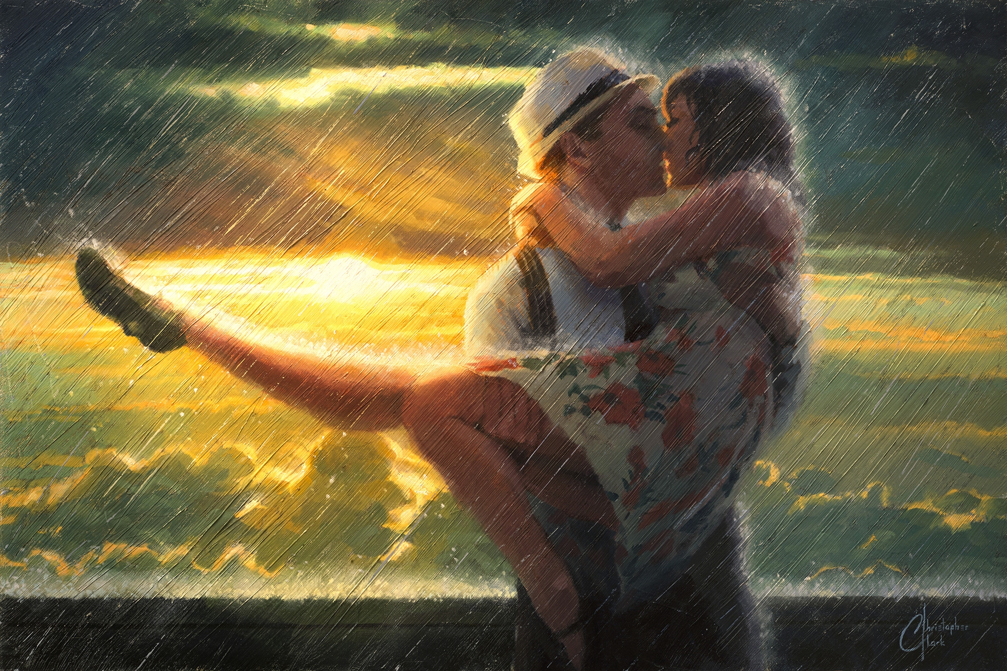 Romance in the Rain by Christopher Clark