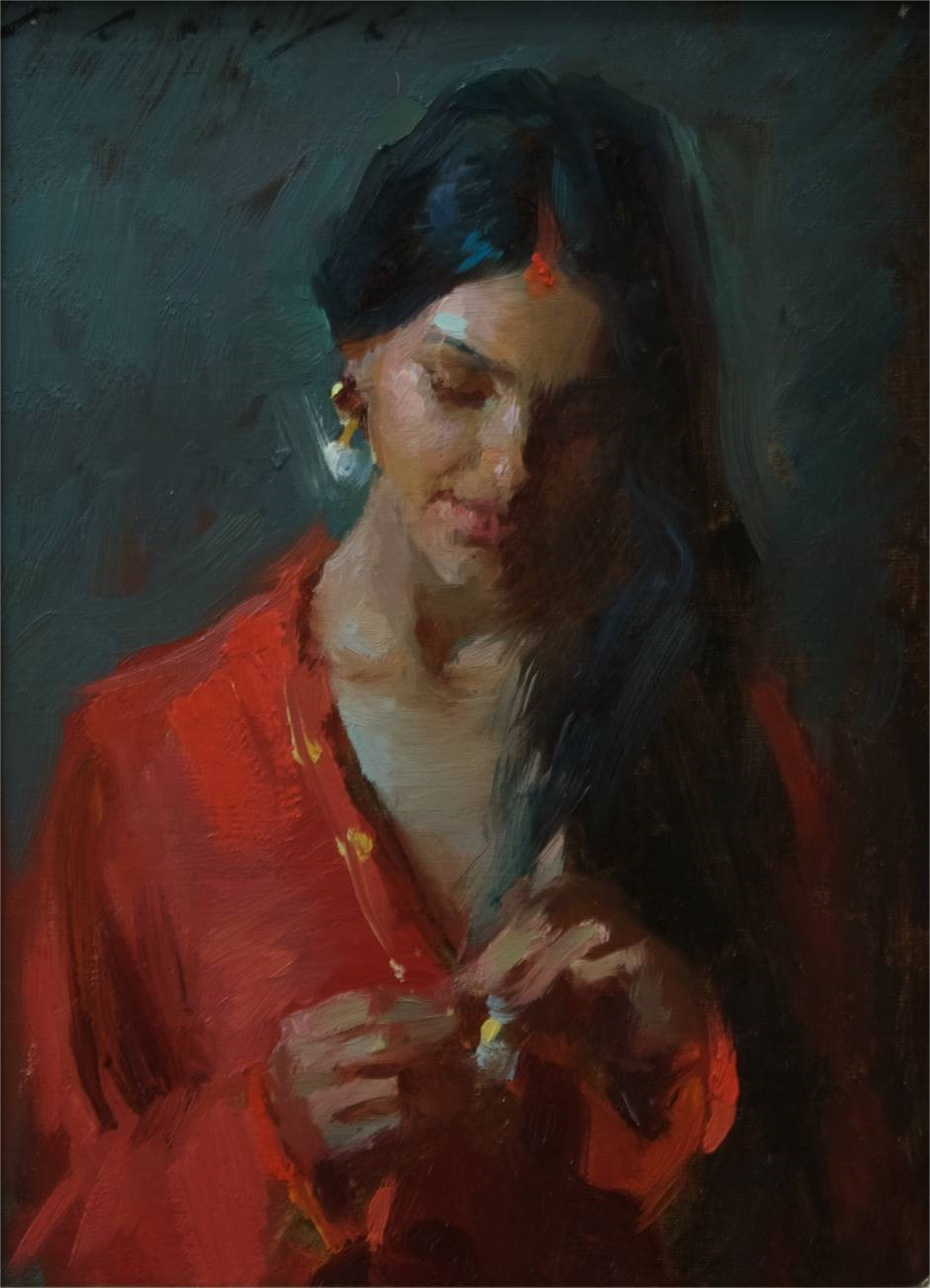 Vermillion Indian Beauty by Suchitra Bhosle